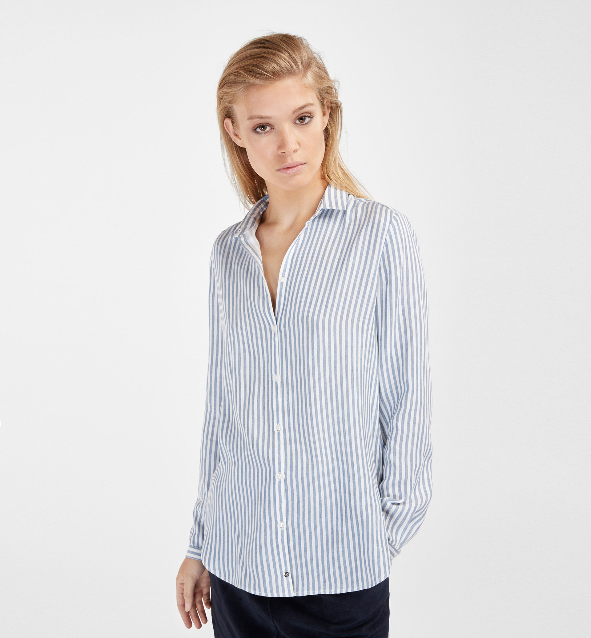 SHIRT WITH VERTICAL STRIPES