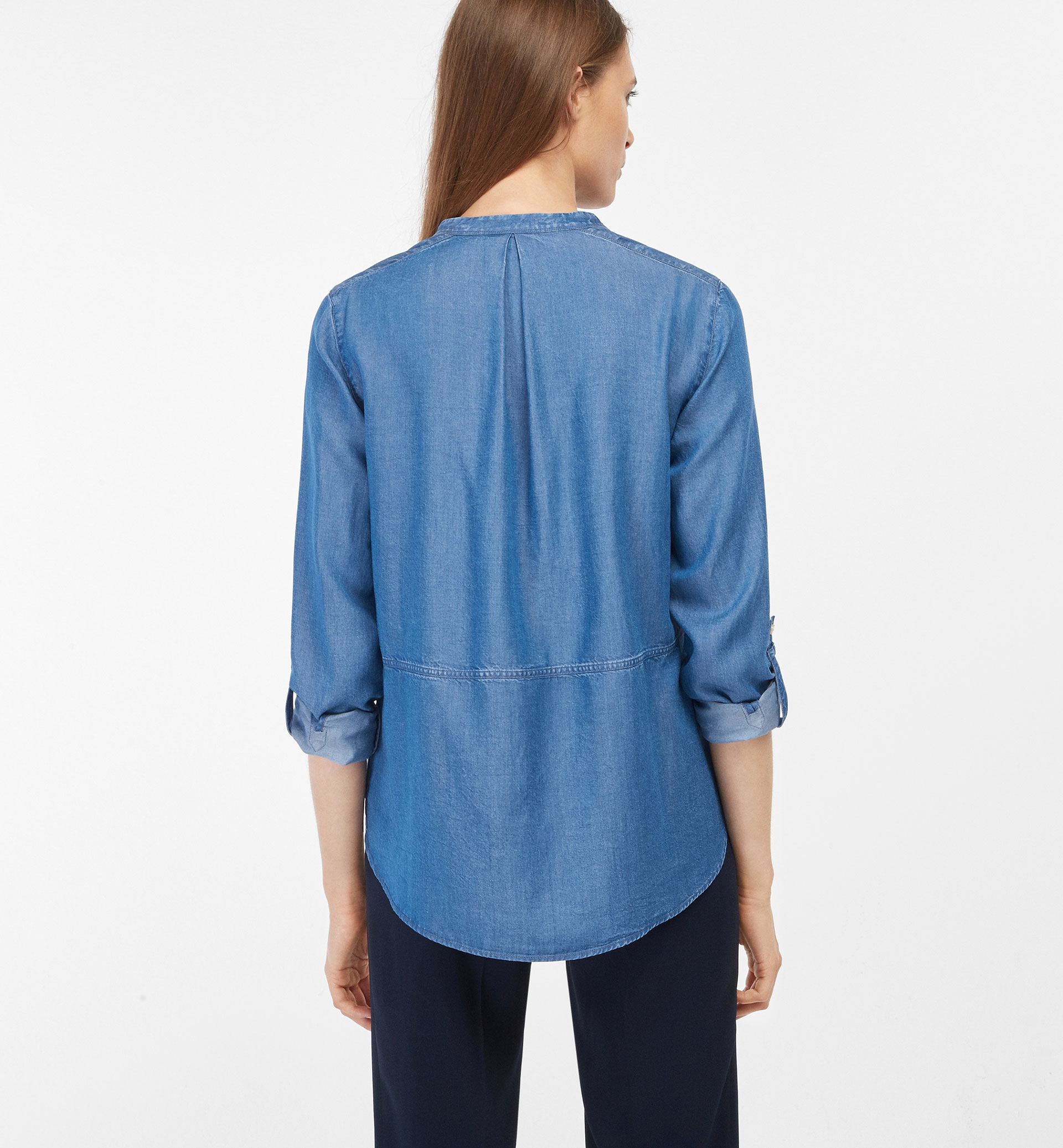 LYOCELL SHIRT WITH WAIST SEAM