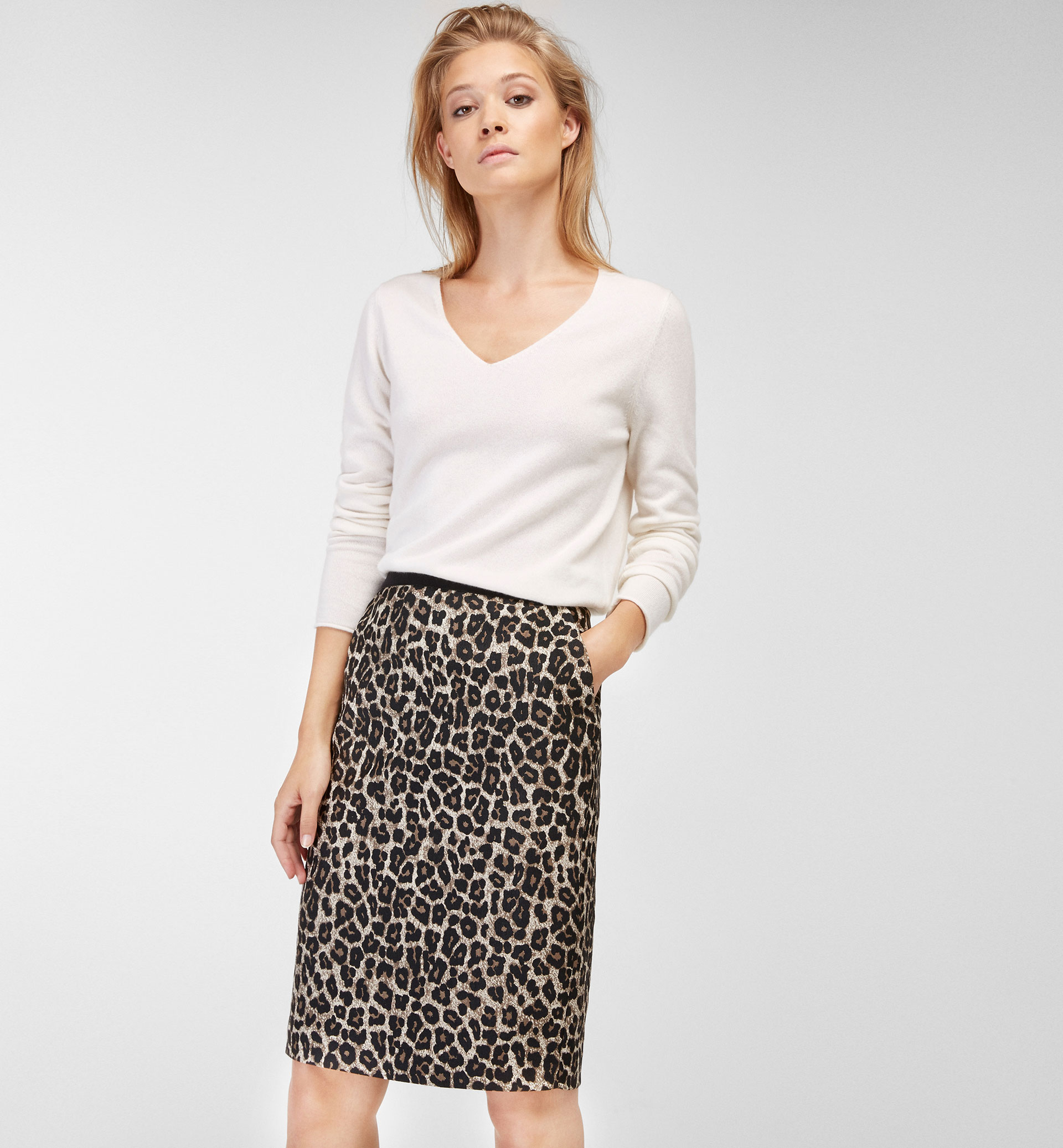 ANIMAL PRINT JACQUARD SKIRT