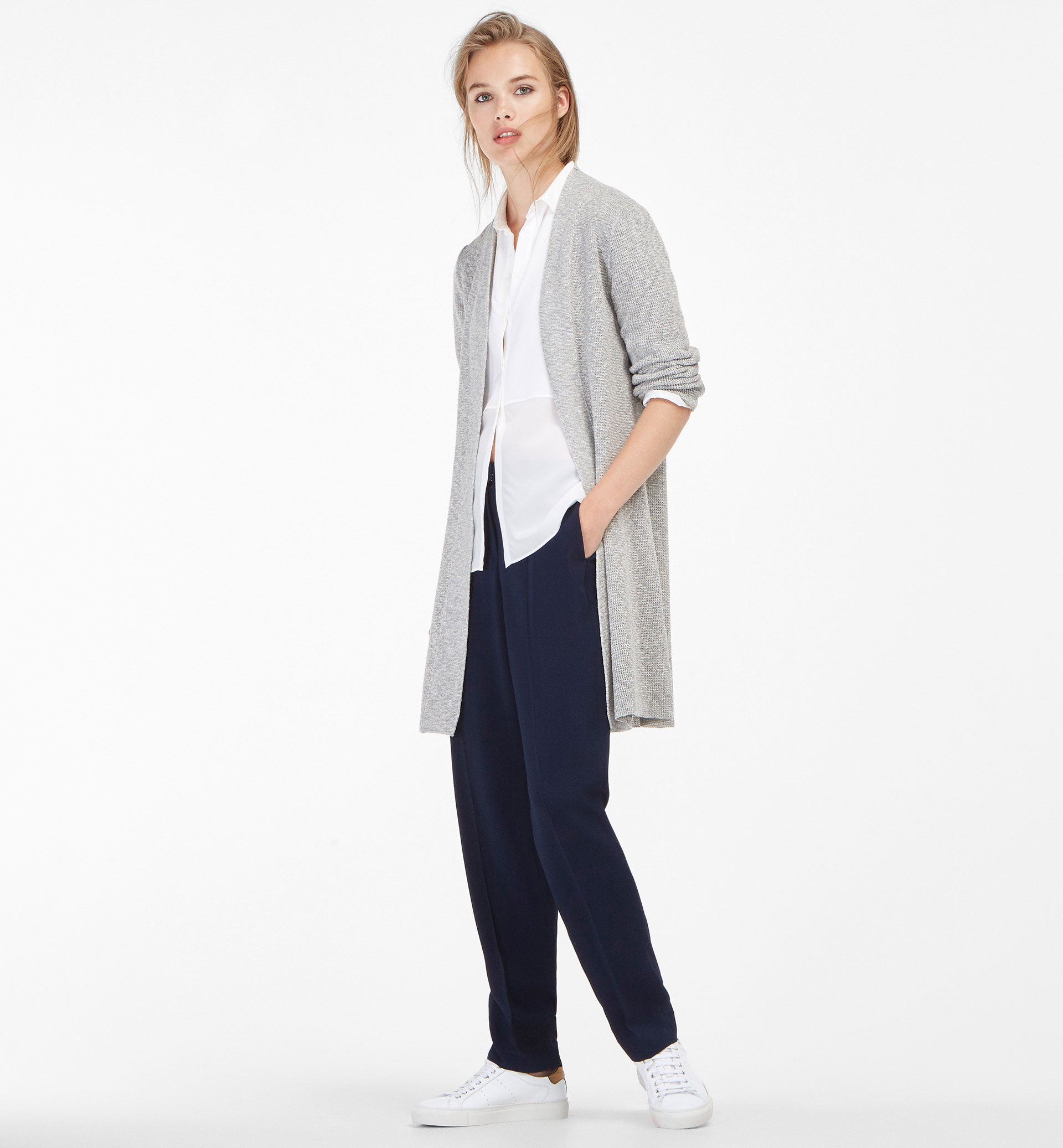 OPEN TEXTURED WEAVE CARDIGAN