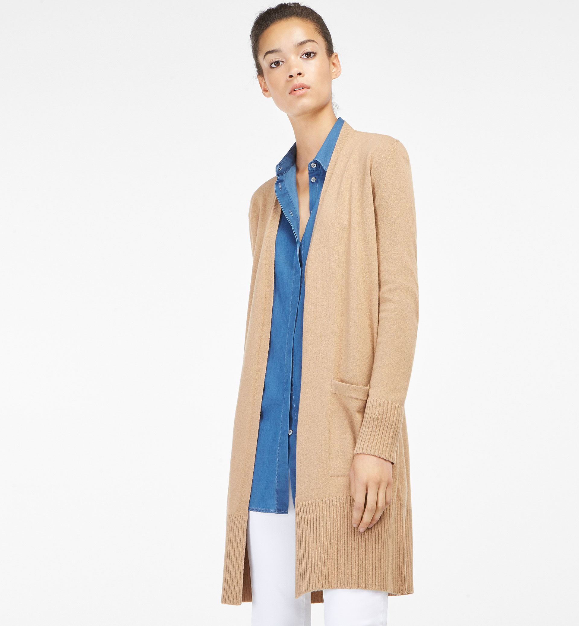 LONG CARDIGAN WITH POCKET DETAIL