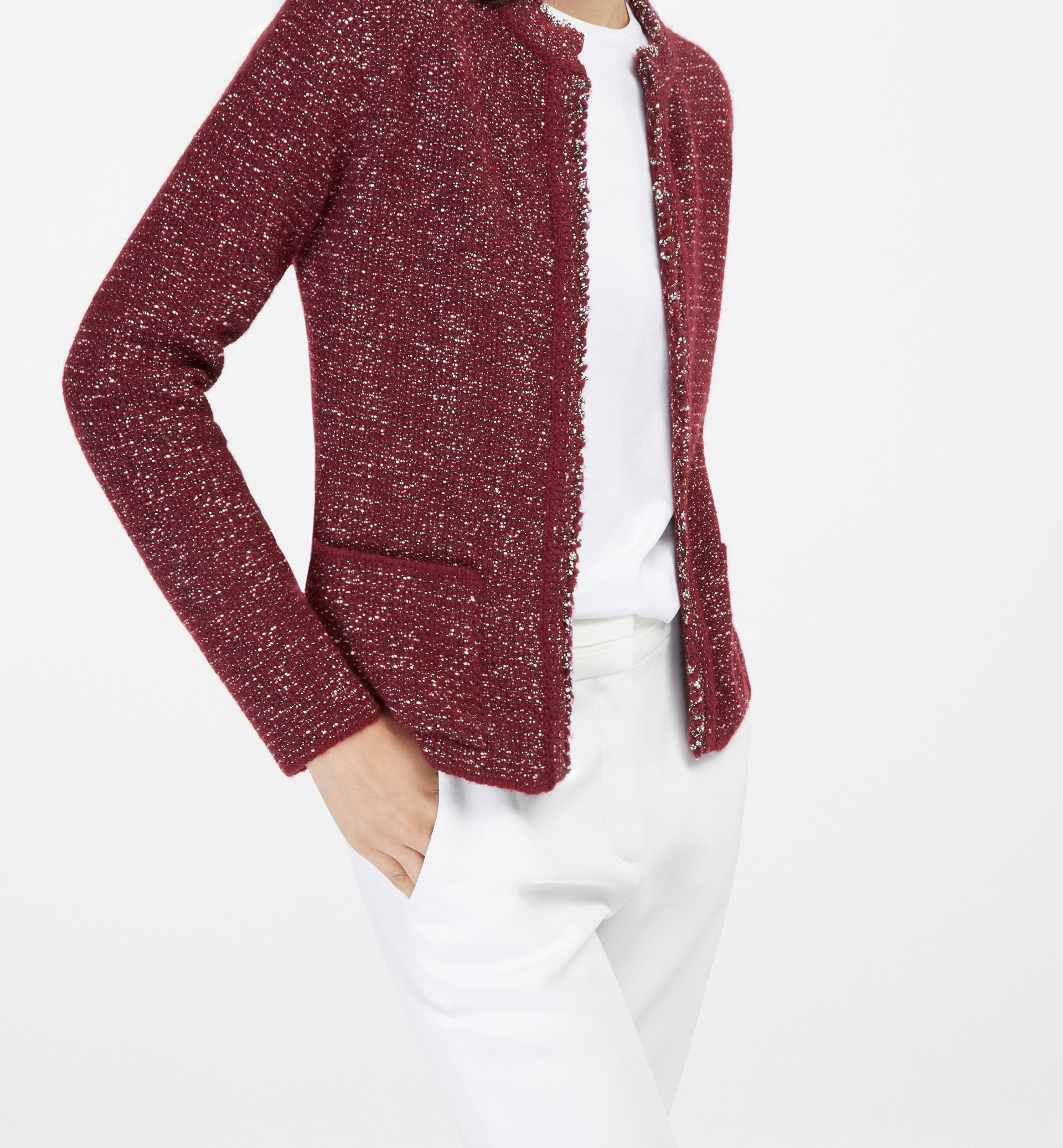 PATTERNED CARDIGAN WITH POCKETS