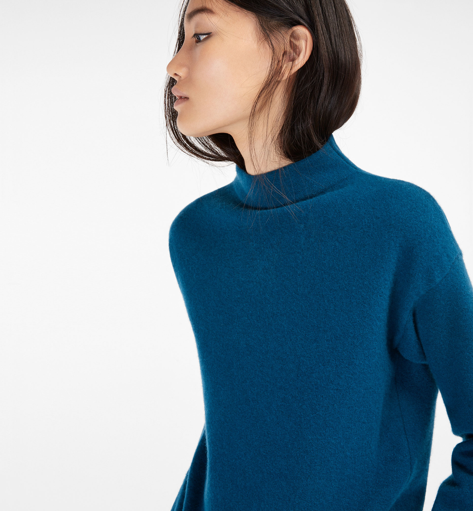 SWEATER WITH PERKINS COLLAR