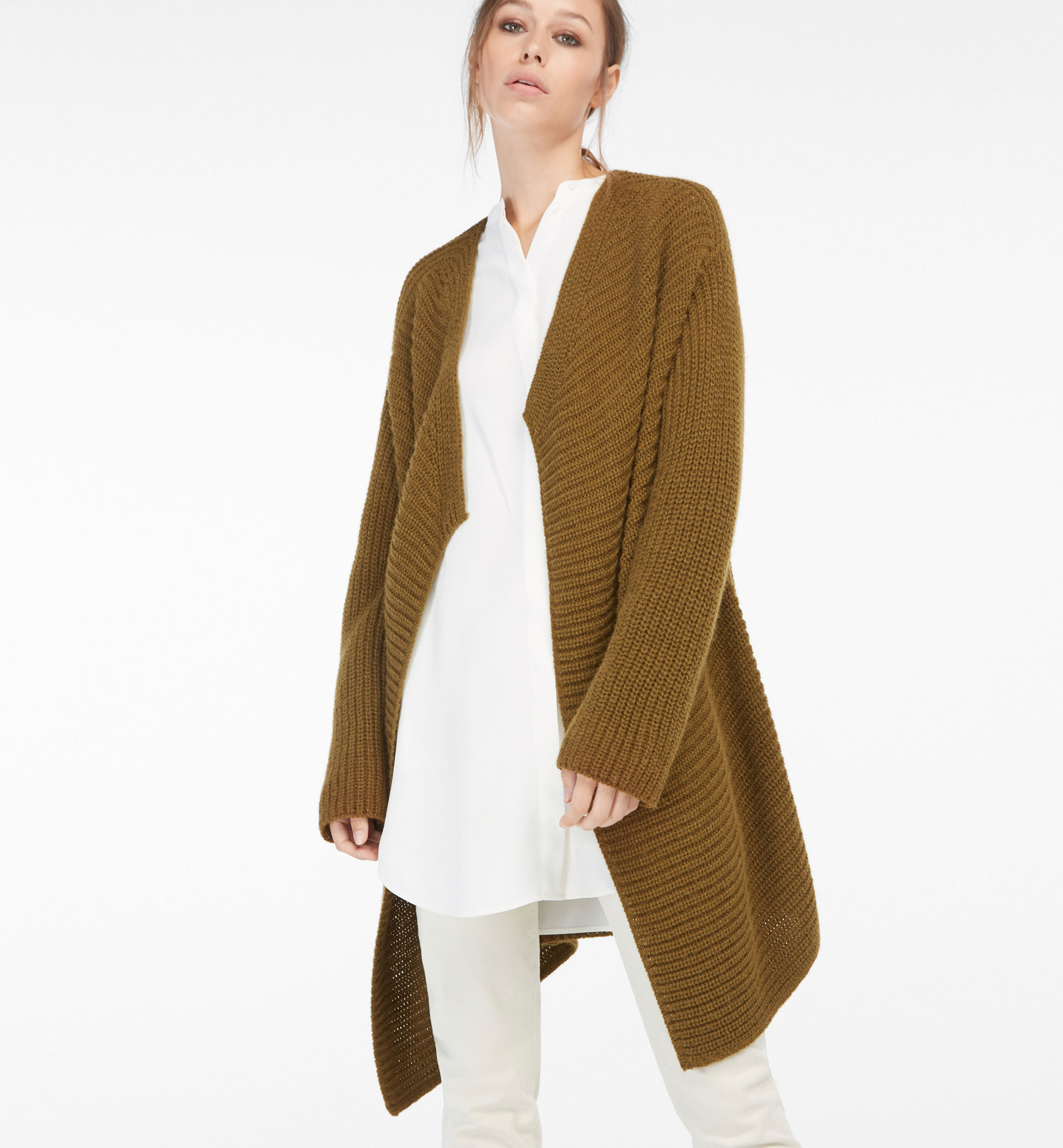 EDGE-TO-EDGE STRUCTURED CARDIGAN