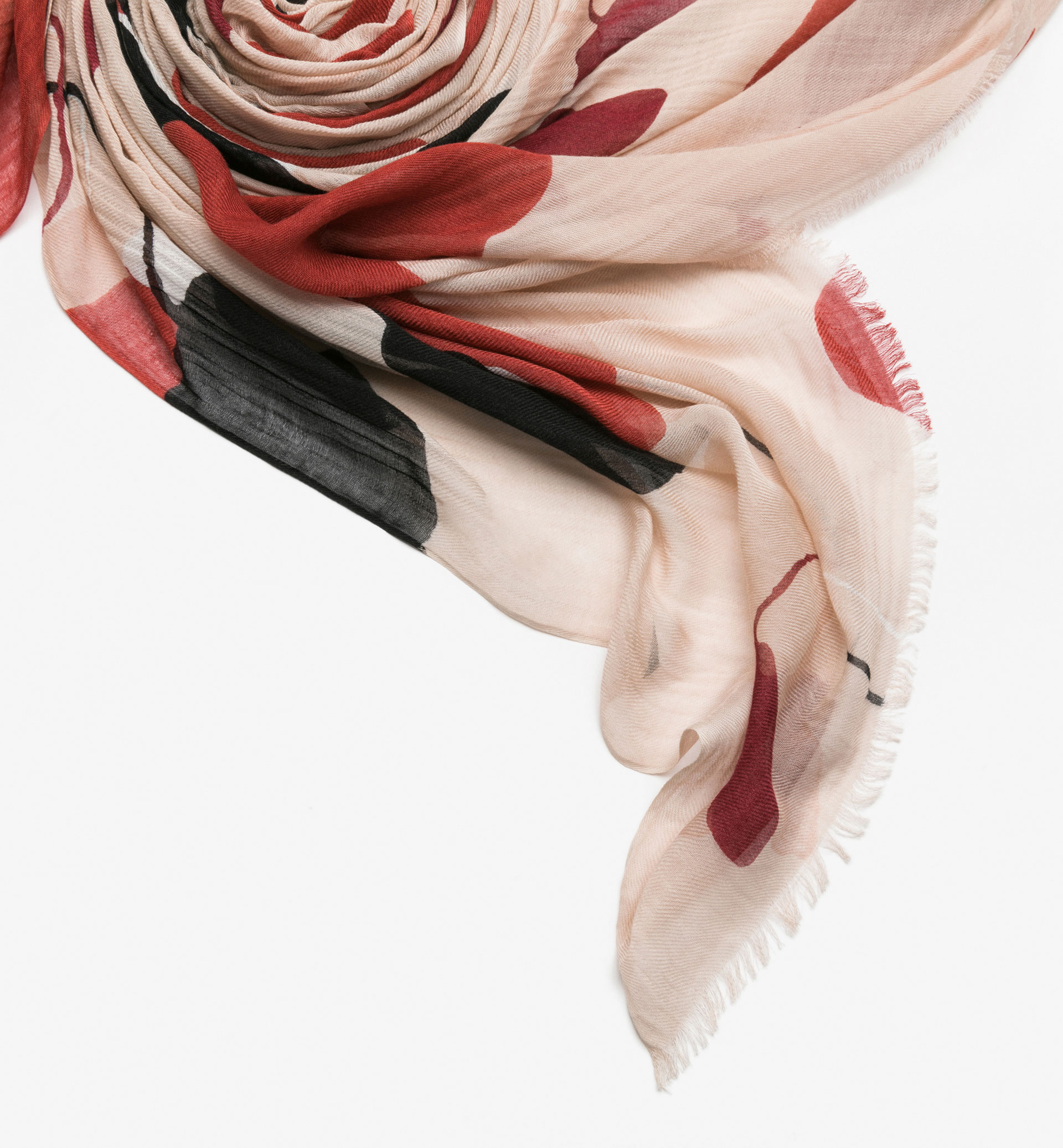 FLORAL WATERCOLOUR PRINT FOULARD