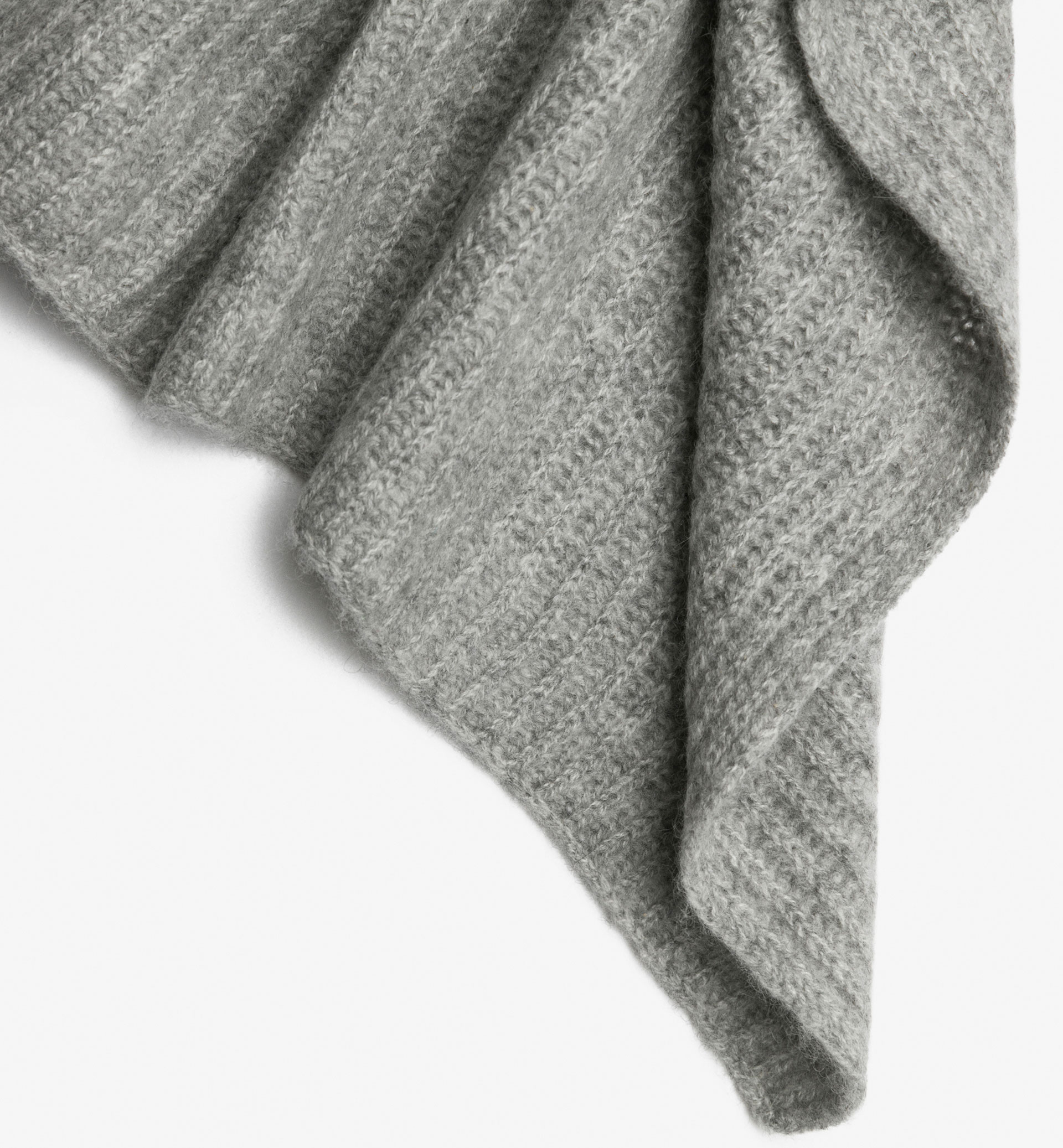 LIMITED GREY 100% CASHMERE SCARF