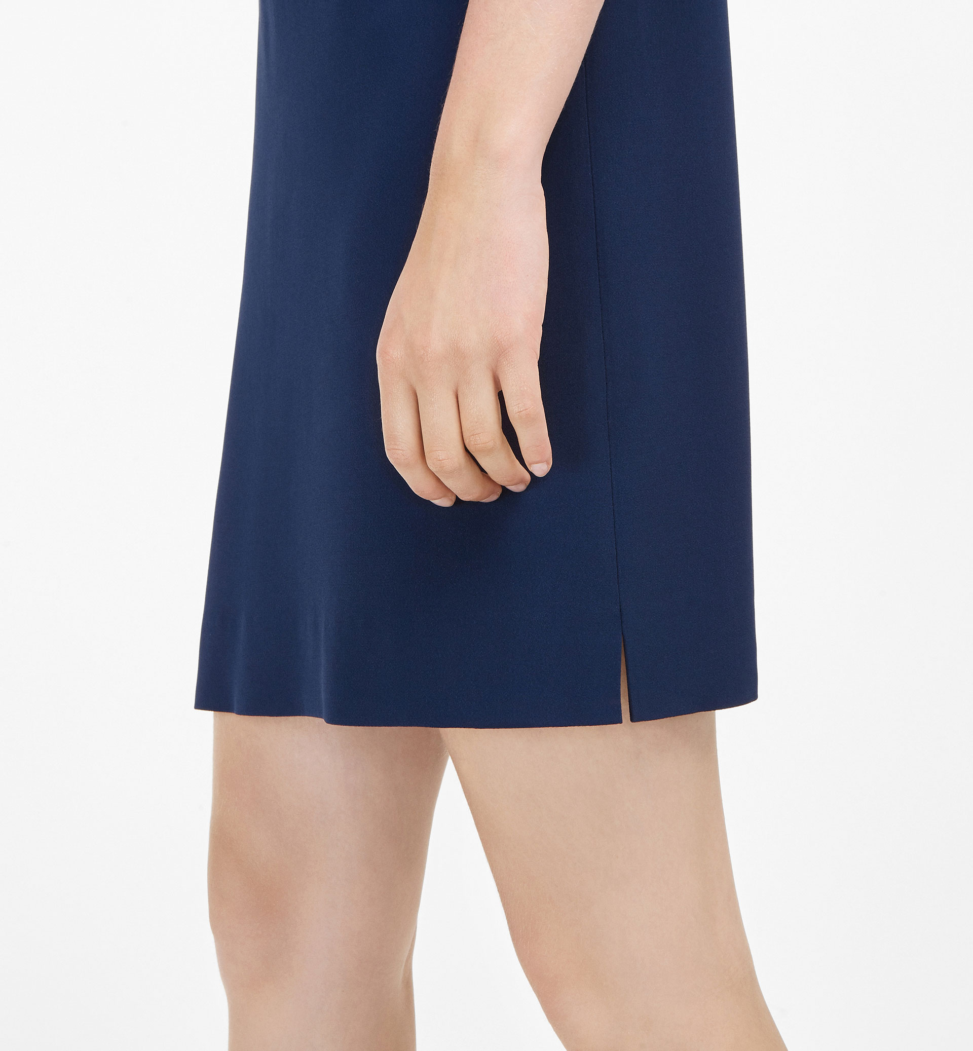 BLUE MOCK LAYER DRESS