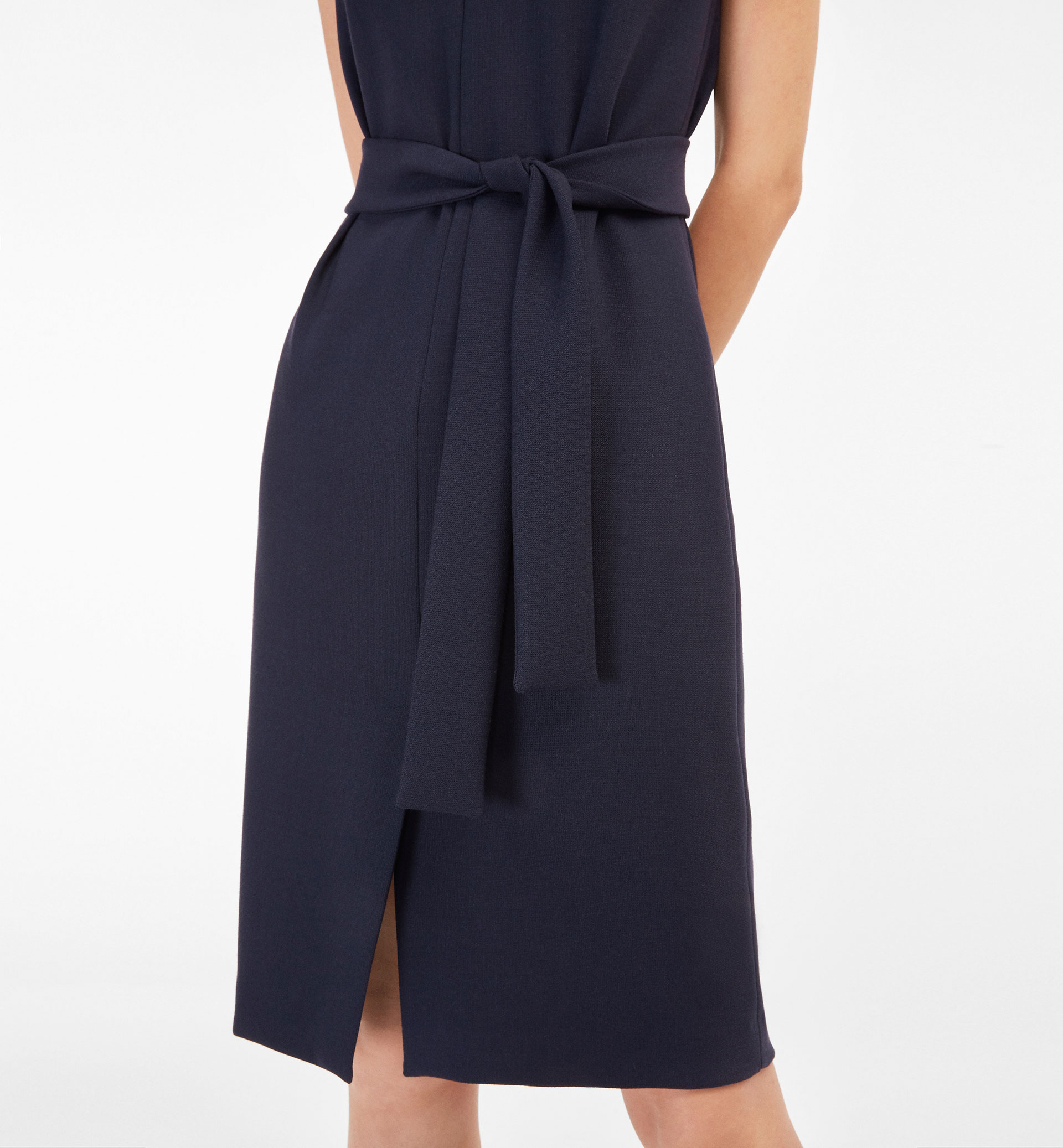 BOW DETAIL NAVY DRESS