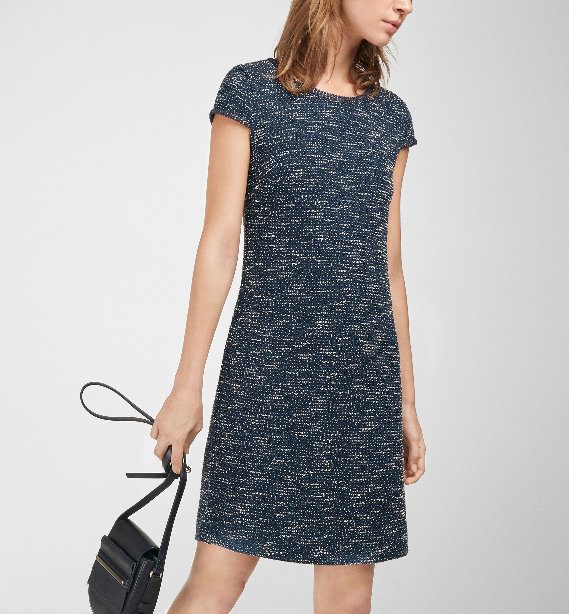 NAVY TWEED DRESS
