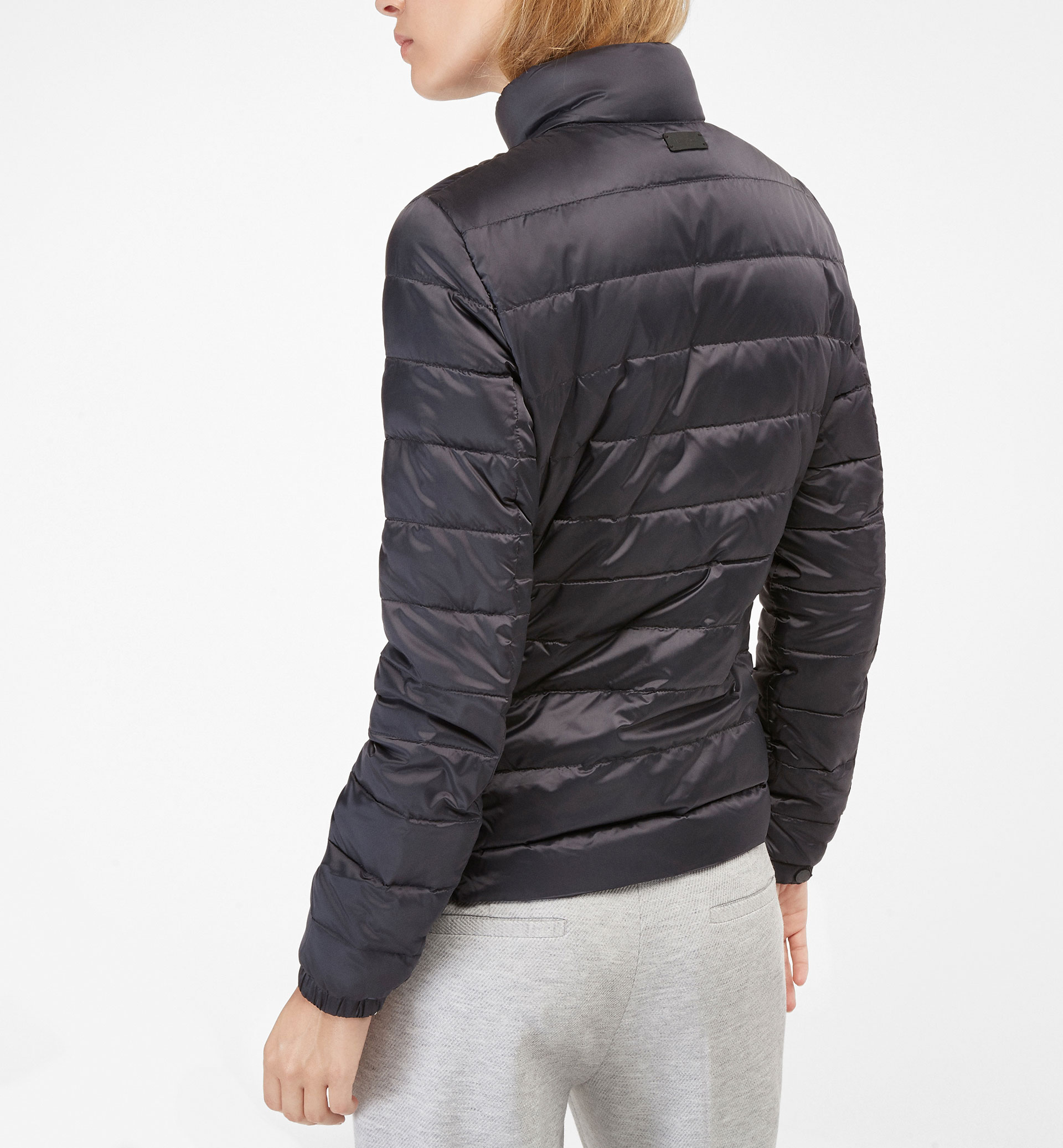 QUILTED PARKA WITH A RIBBED SIDE