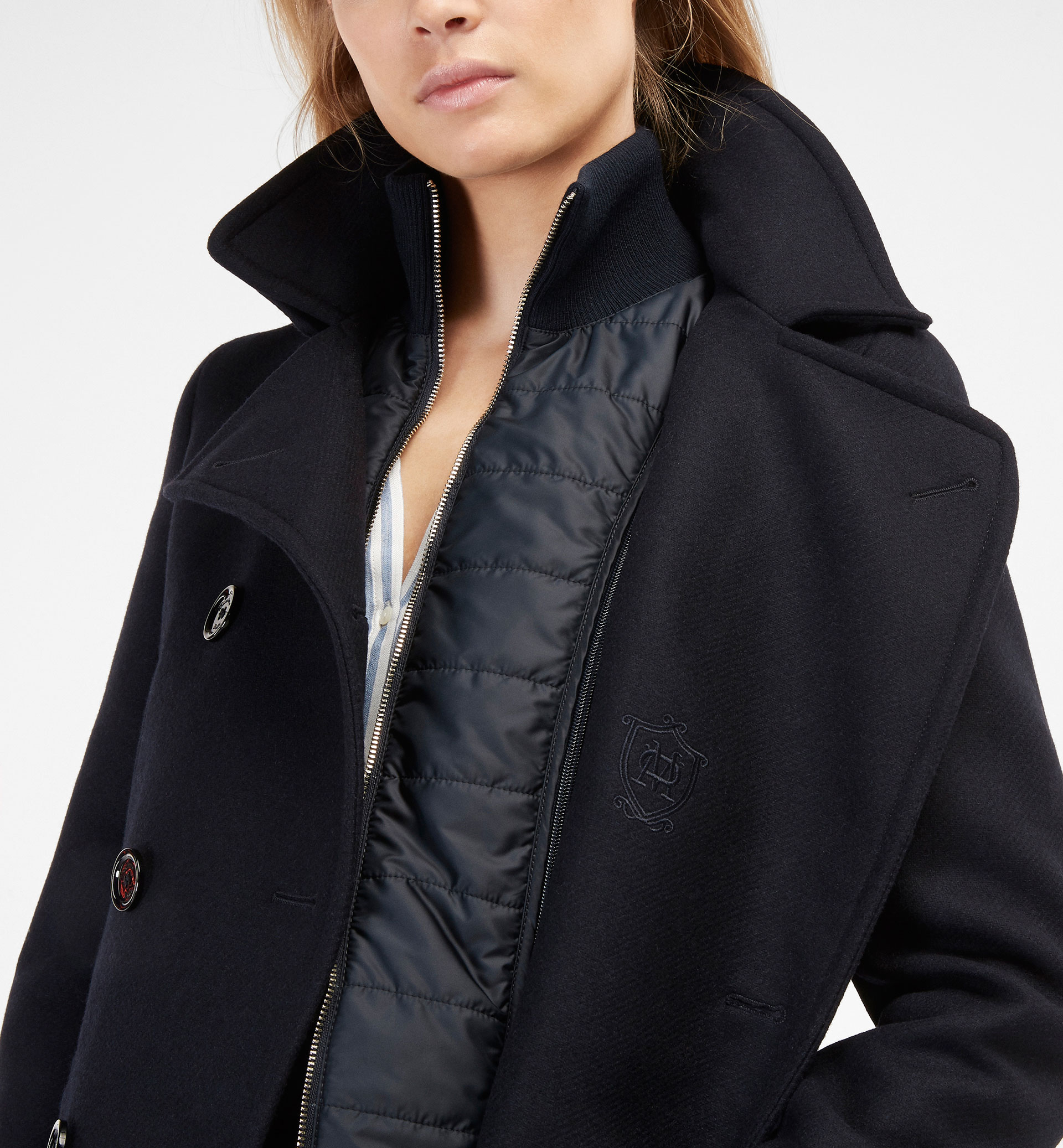 THREE QUARTER LENGTH COAT WITH DETACHABLE LINING