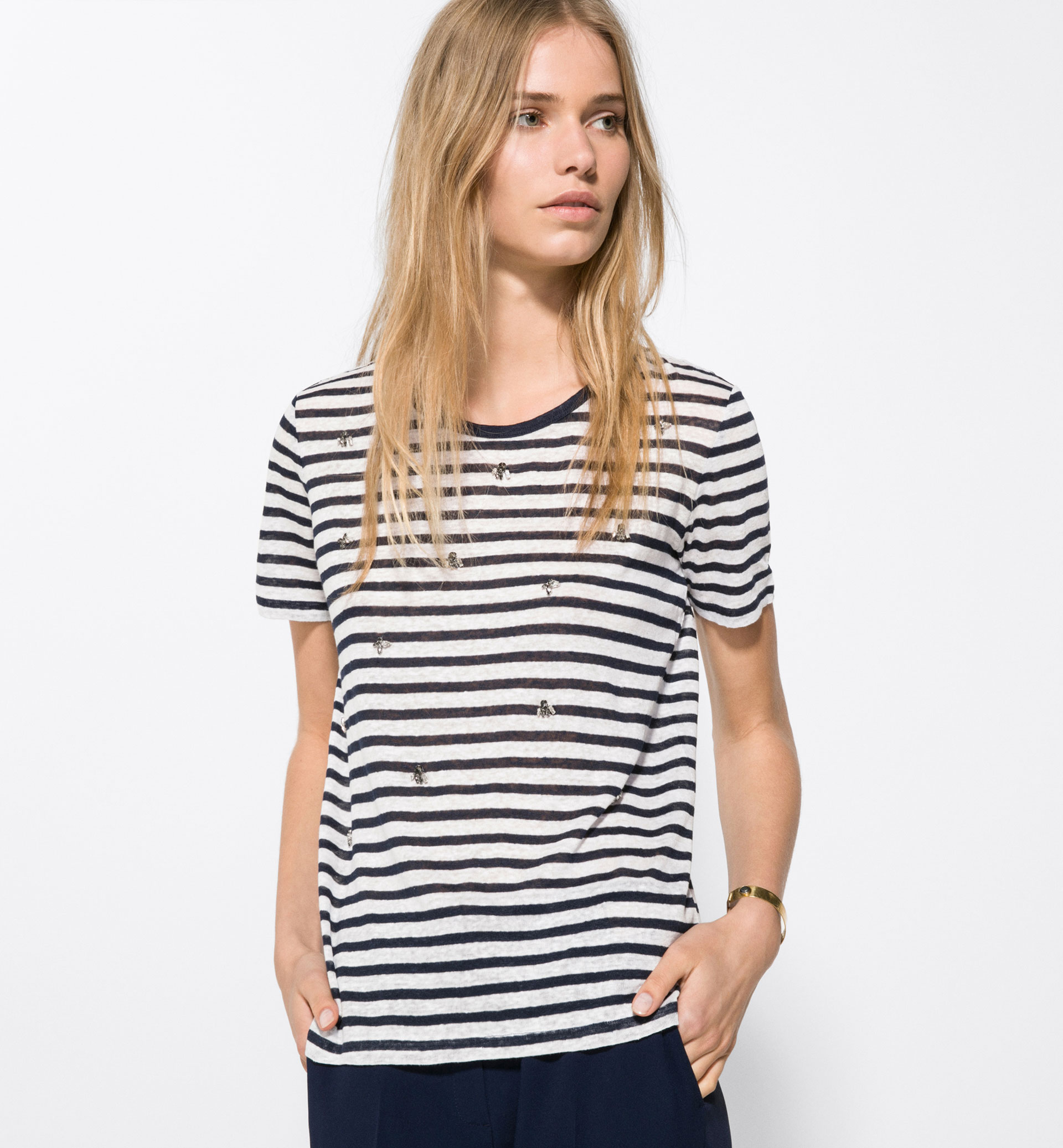 STRIPED GEM T-SHIRT