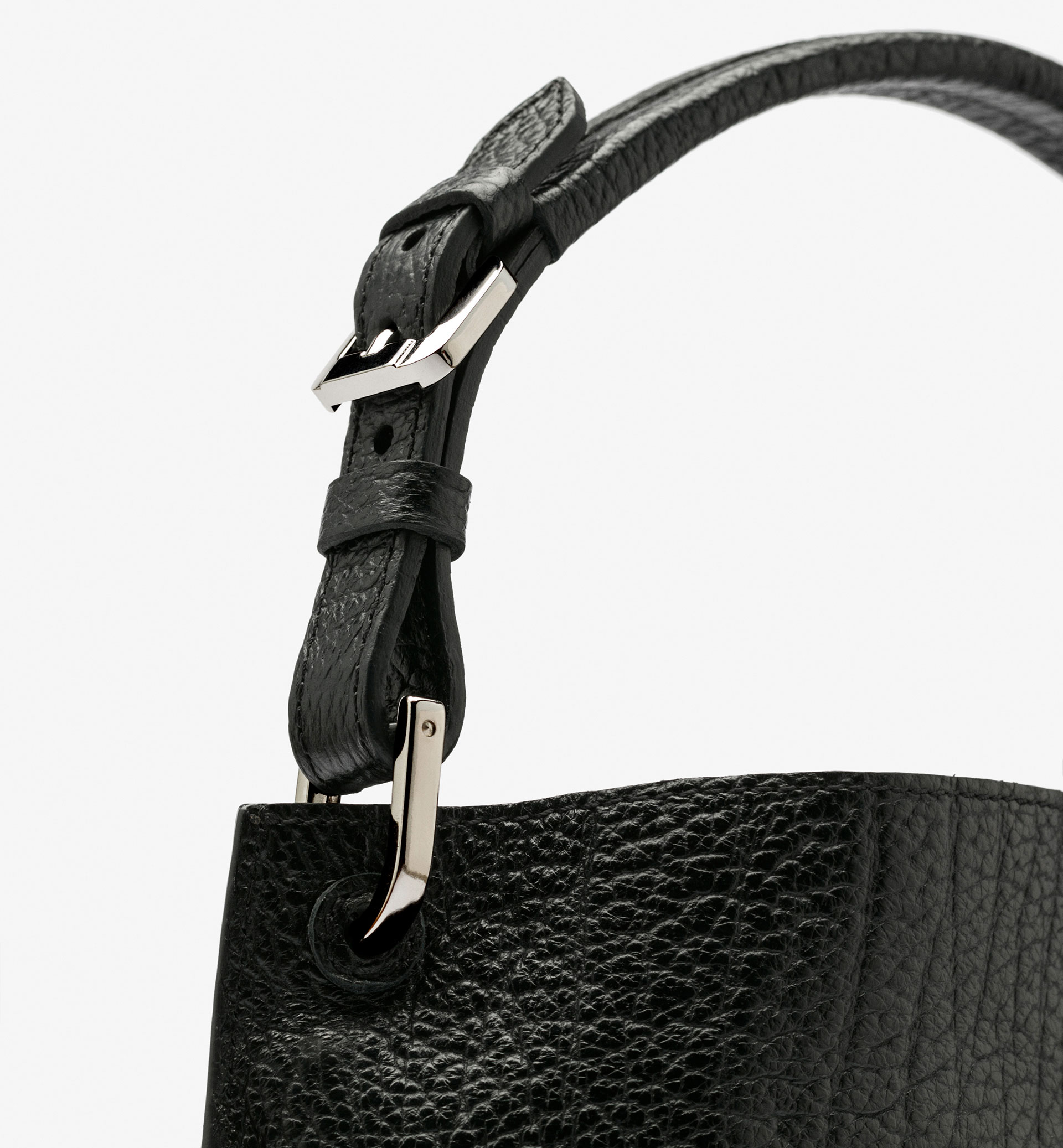 BLACK TEXTURED BAG