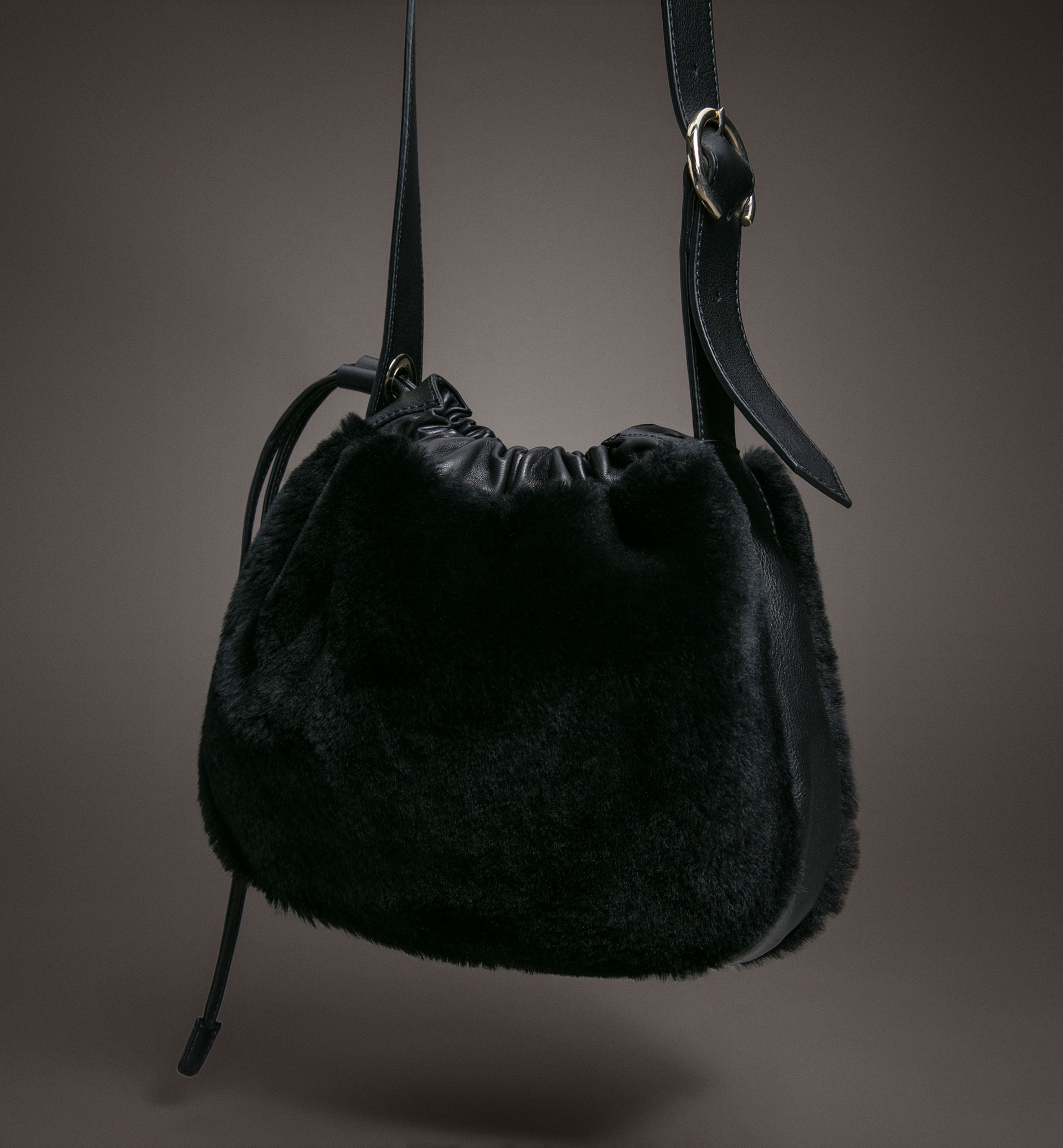 LIMITED EDITION CONTRAST LAMBSKIN CROSSBODY BAG