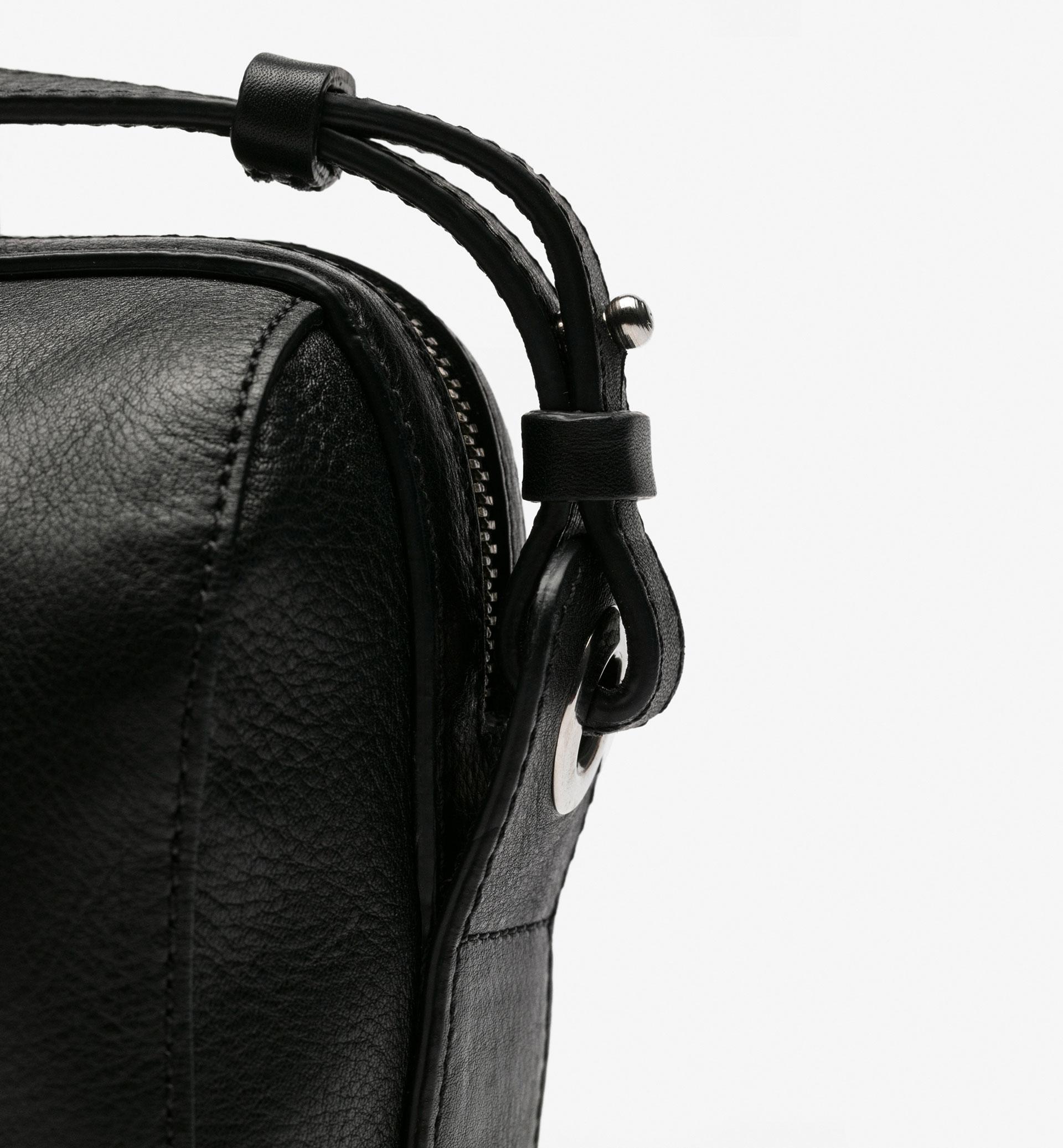 MINI BOWLING BAG WITH APPLIQUÉS