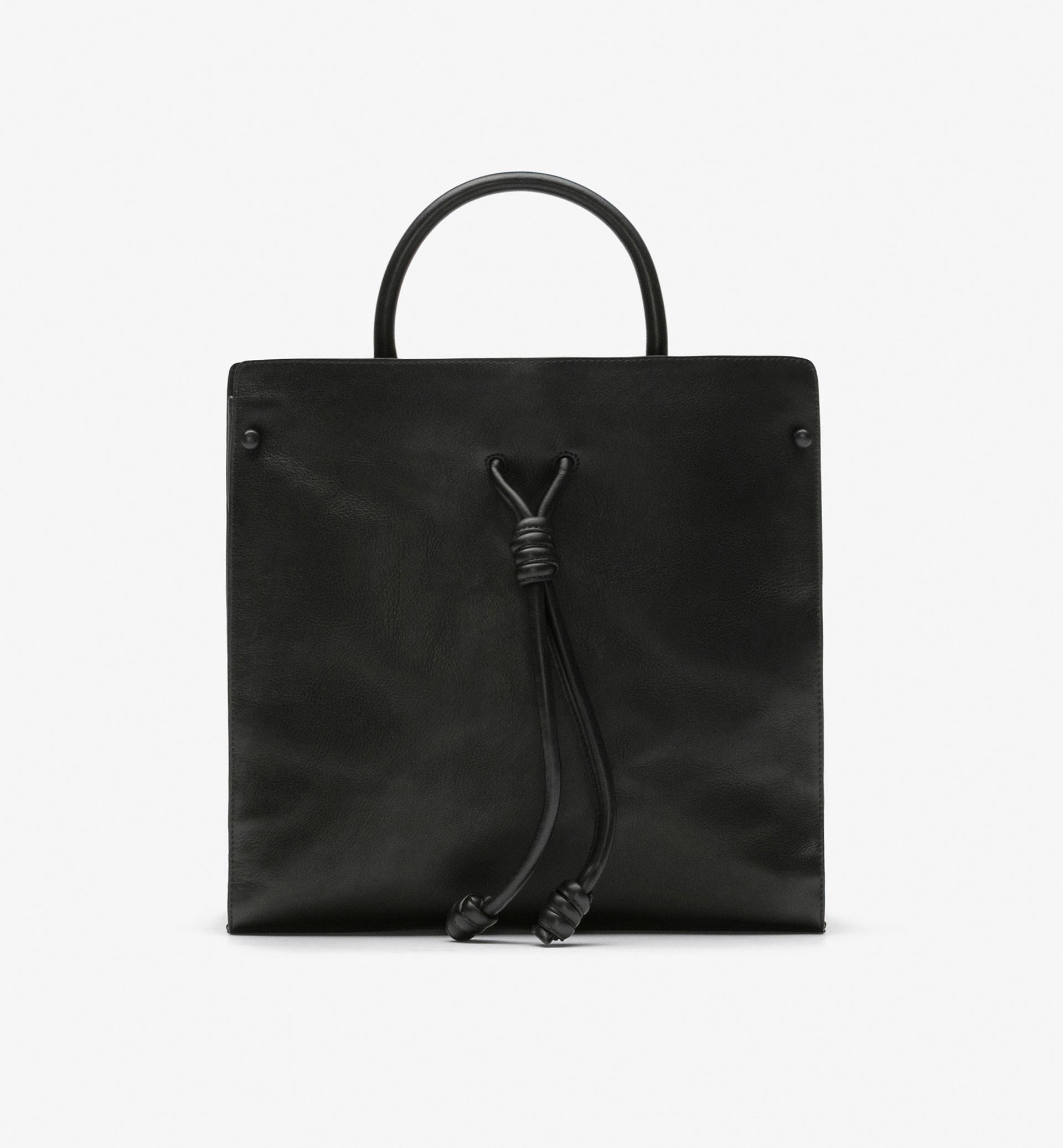 KNOT DETAIL TUBULAR BAG