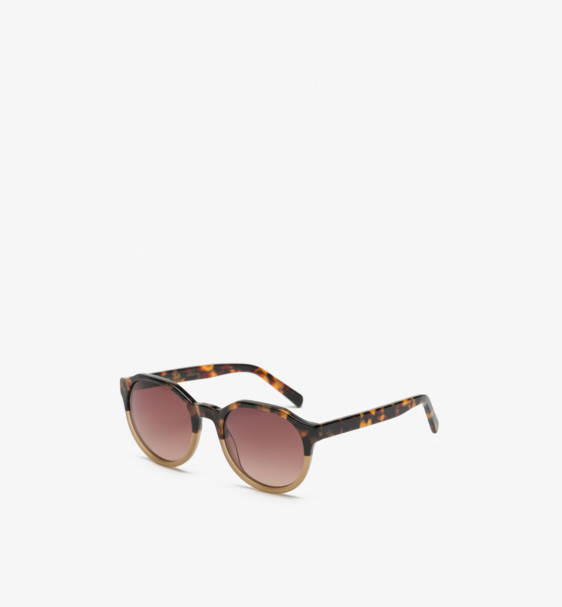 TWO-TONED TORTOISESHELL GLASSES