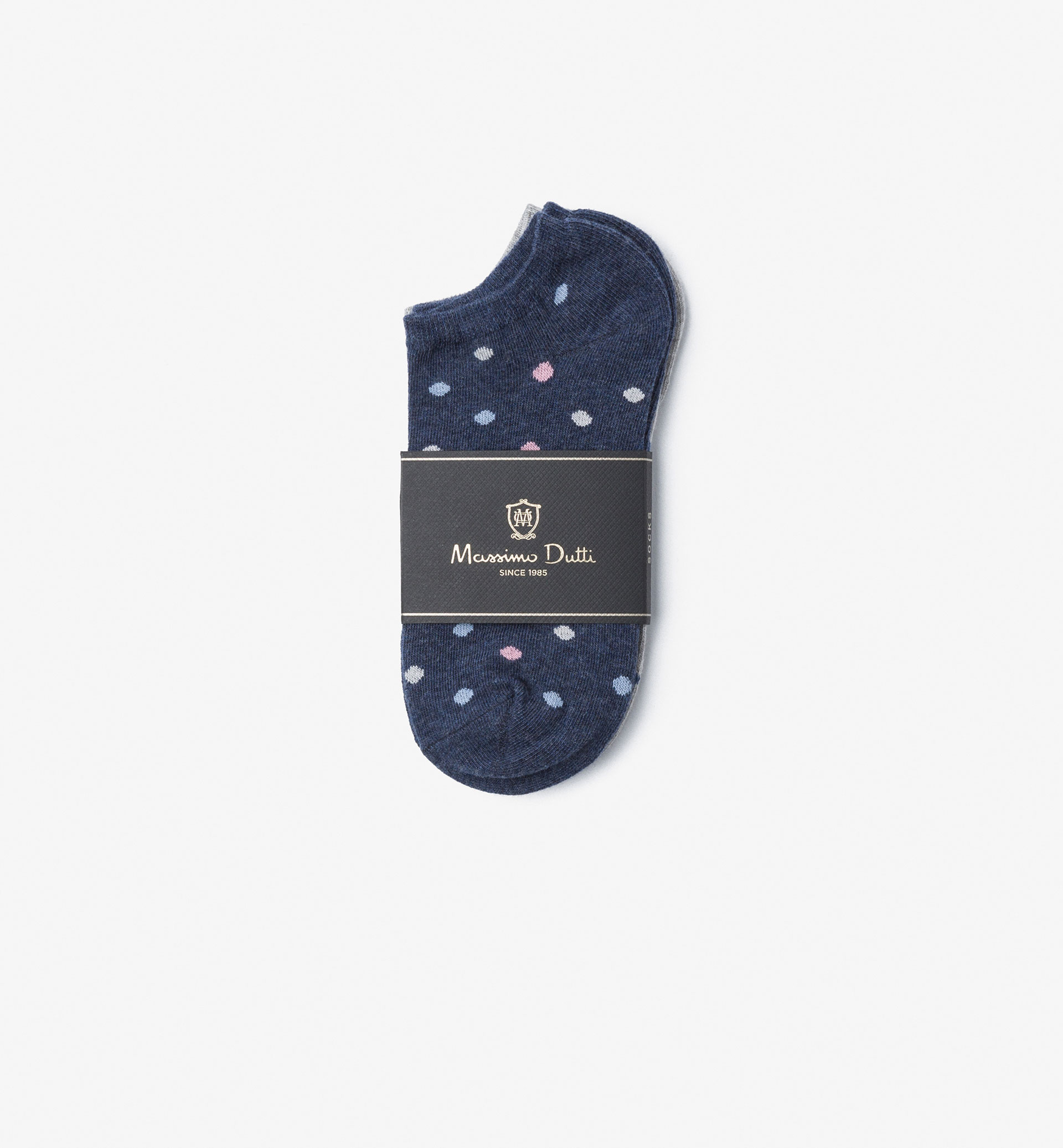 PACK OF PINK ANKLE SOCKS WITH POLKA DOT DETAIL