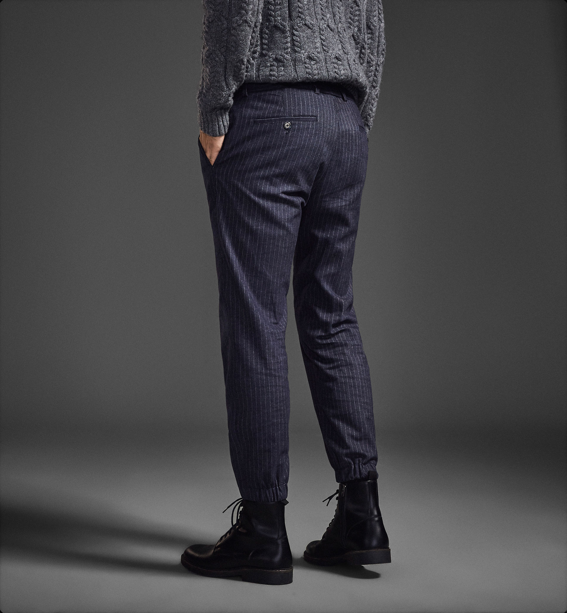 LIMITED EDITION PINSTRIPE JOGGER CHINOS