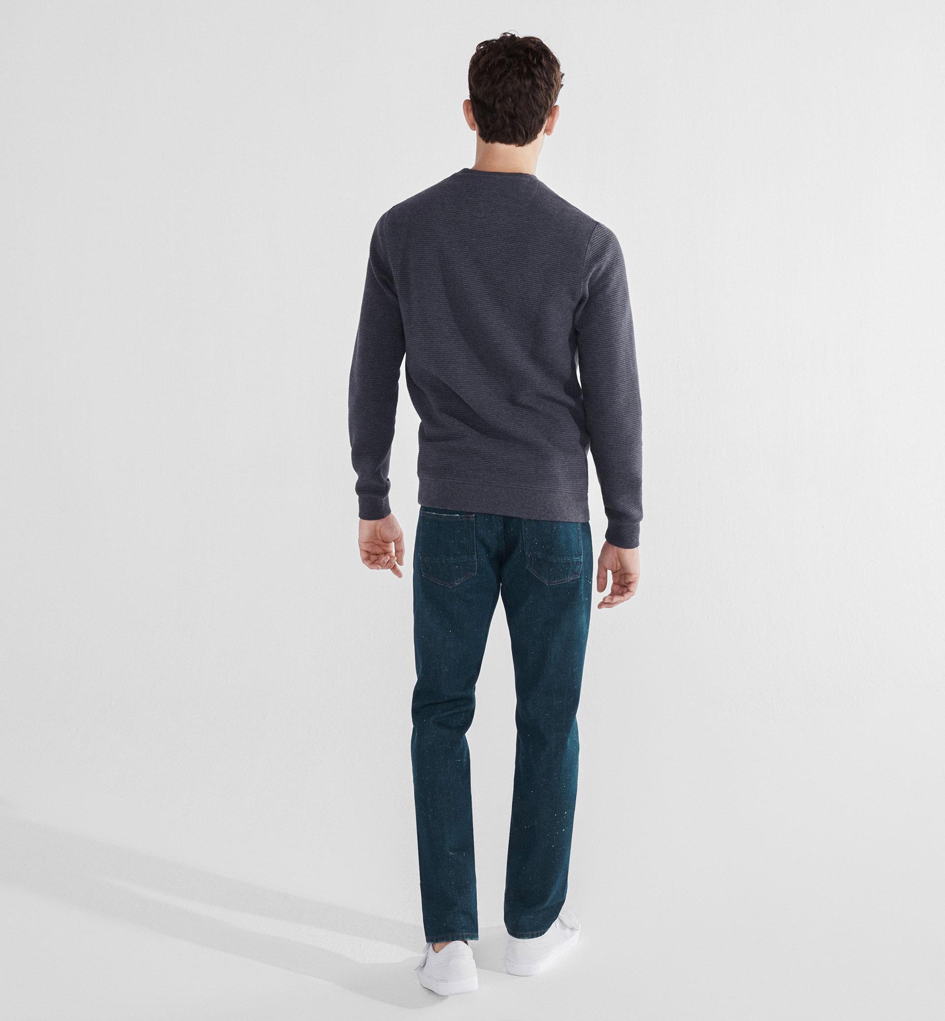 SLIM-FIT RUSTIC SOFT JEANS WITH SPECKLES