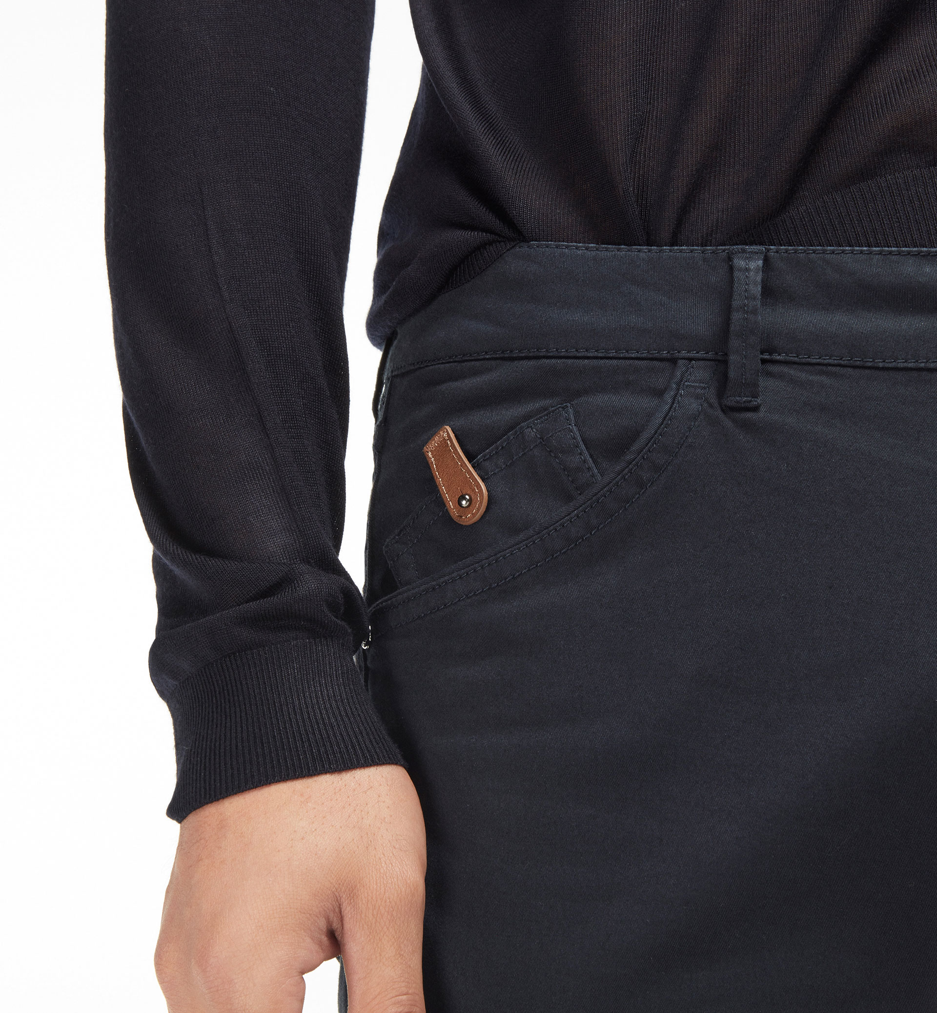 CASUAL FIT POCKET DETAIL 5 POCKET TROUSERS