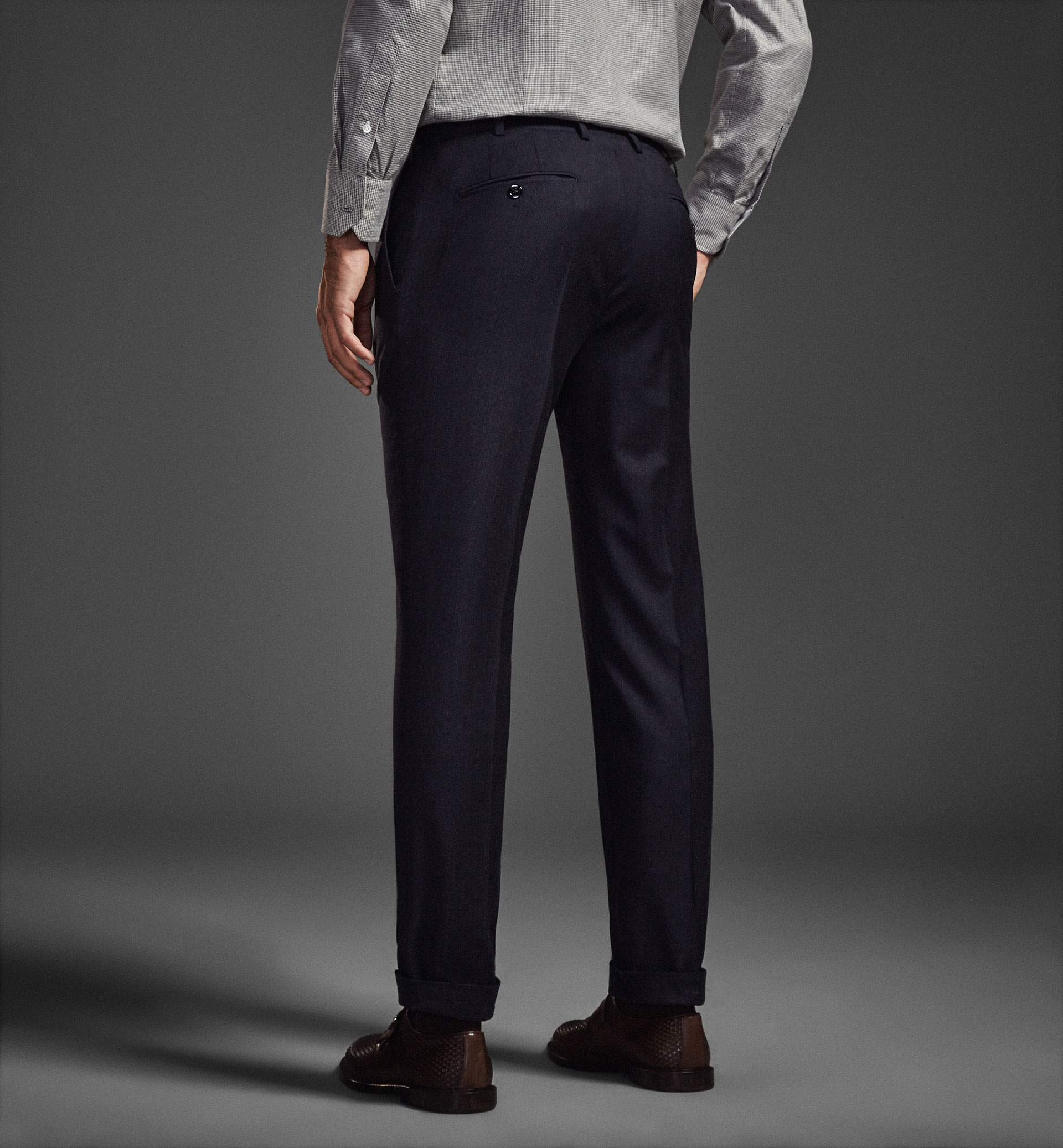 LIMITED EDITION PINSTRIPE WOOL TROUSERS