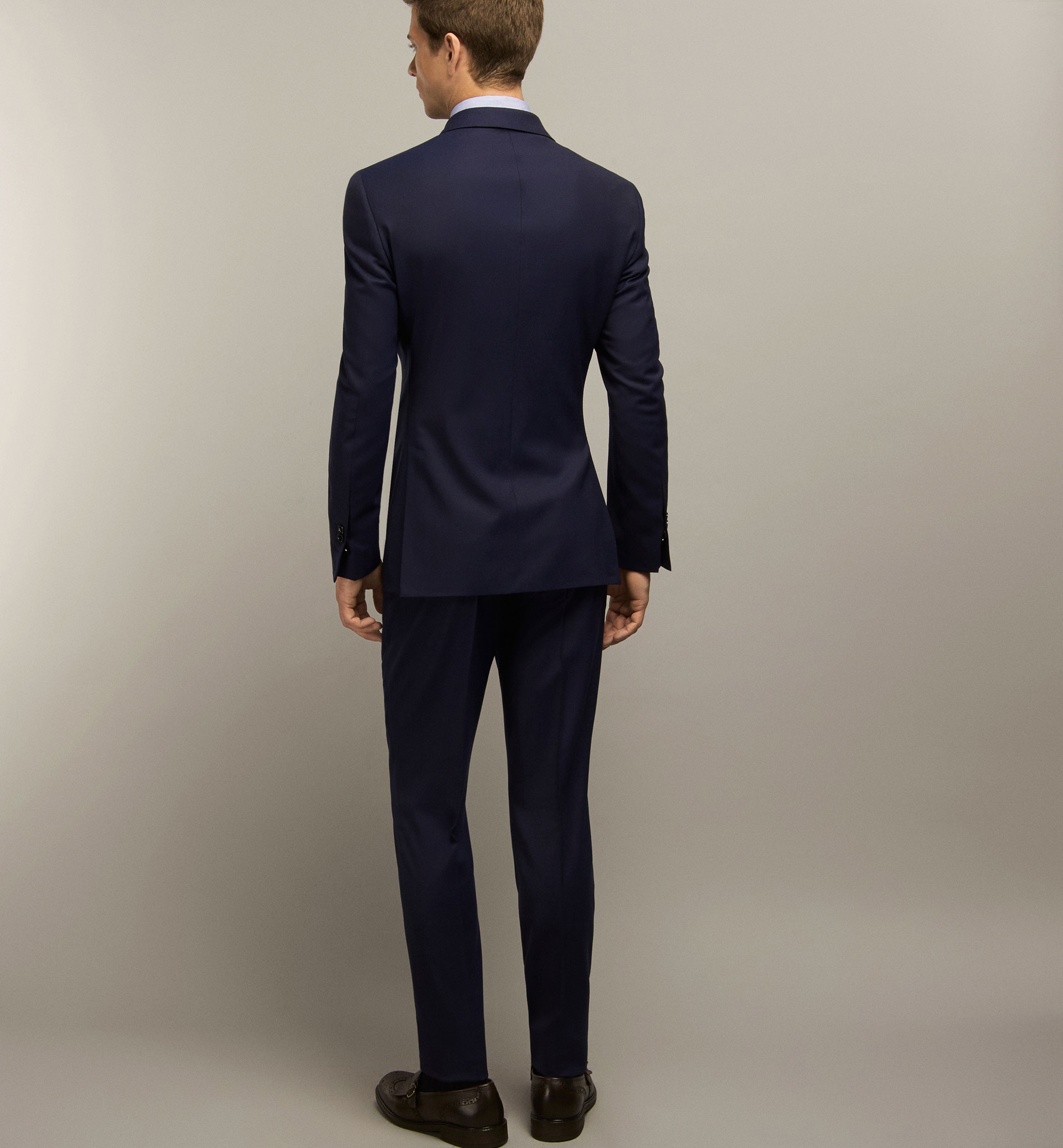 DEEP BLUE WOOL TROUSERS