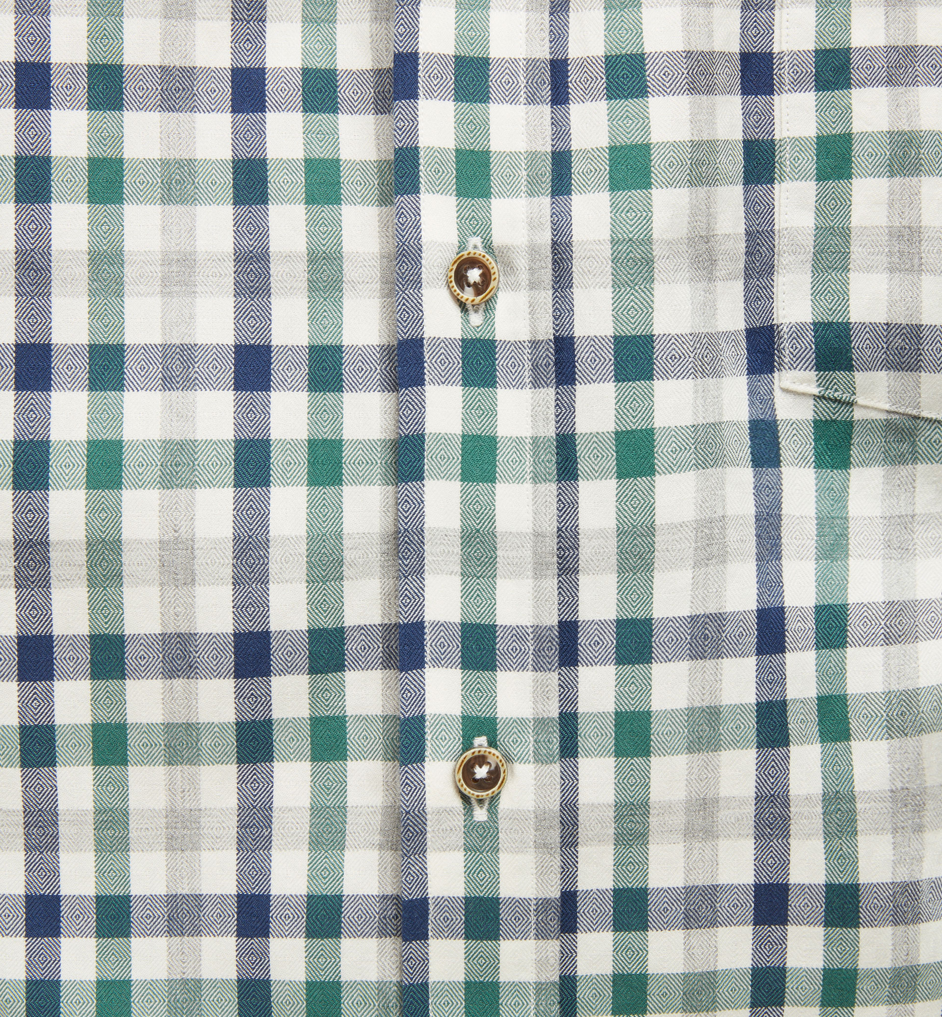 SLIM GINGHAM CHECK SHIRT WITH LEATHER ELBOW PATCHES