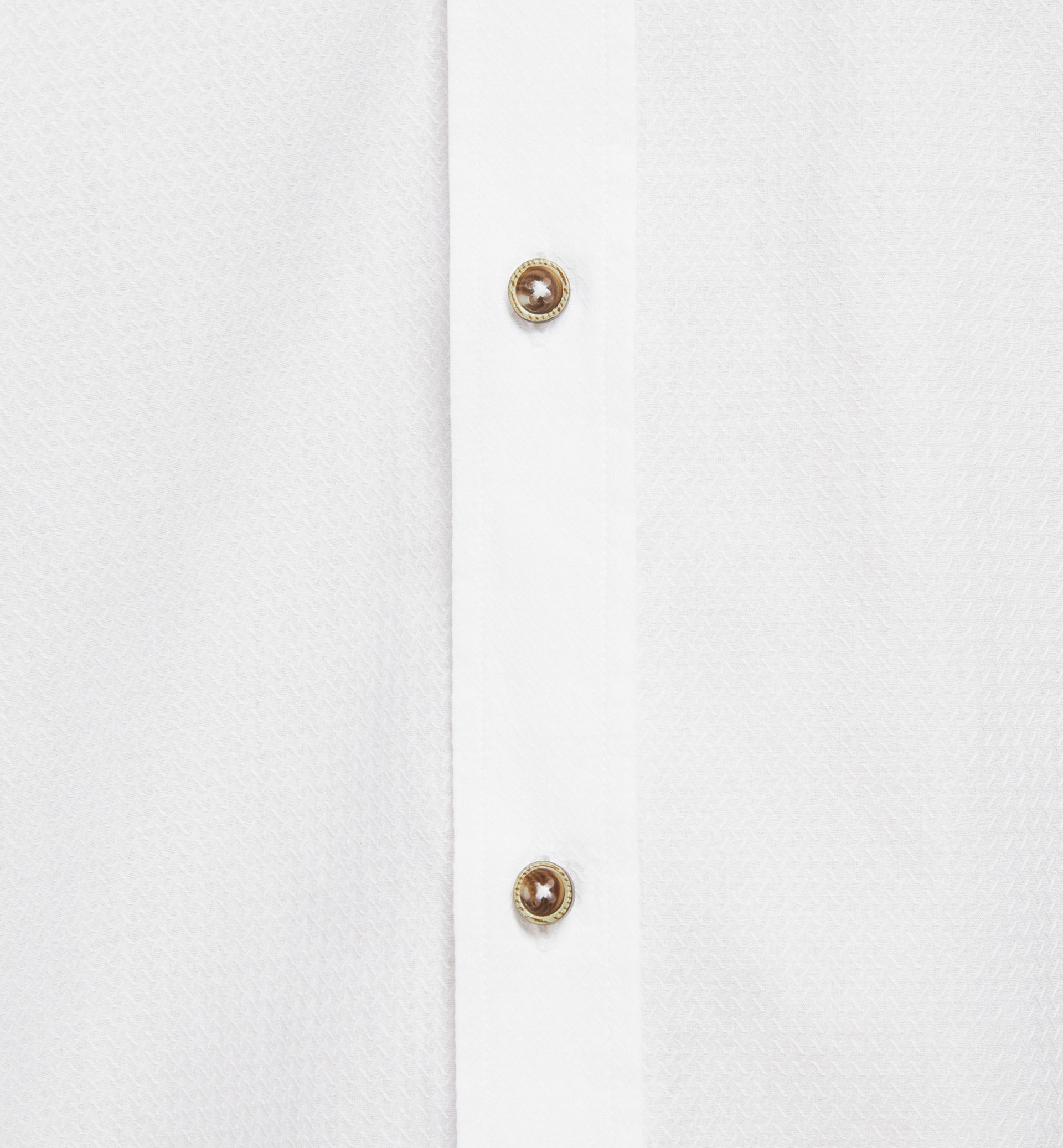 SLIM FIT TEXTURED WEAVE SHIRT WITH HERRINGBONE ELBOW PATCHES