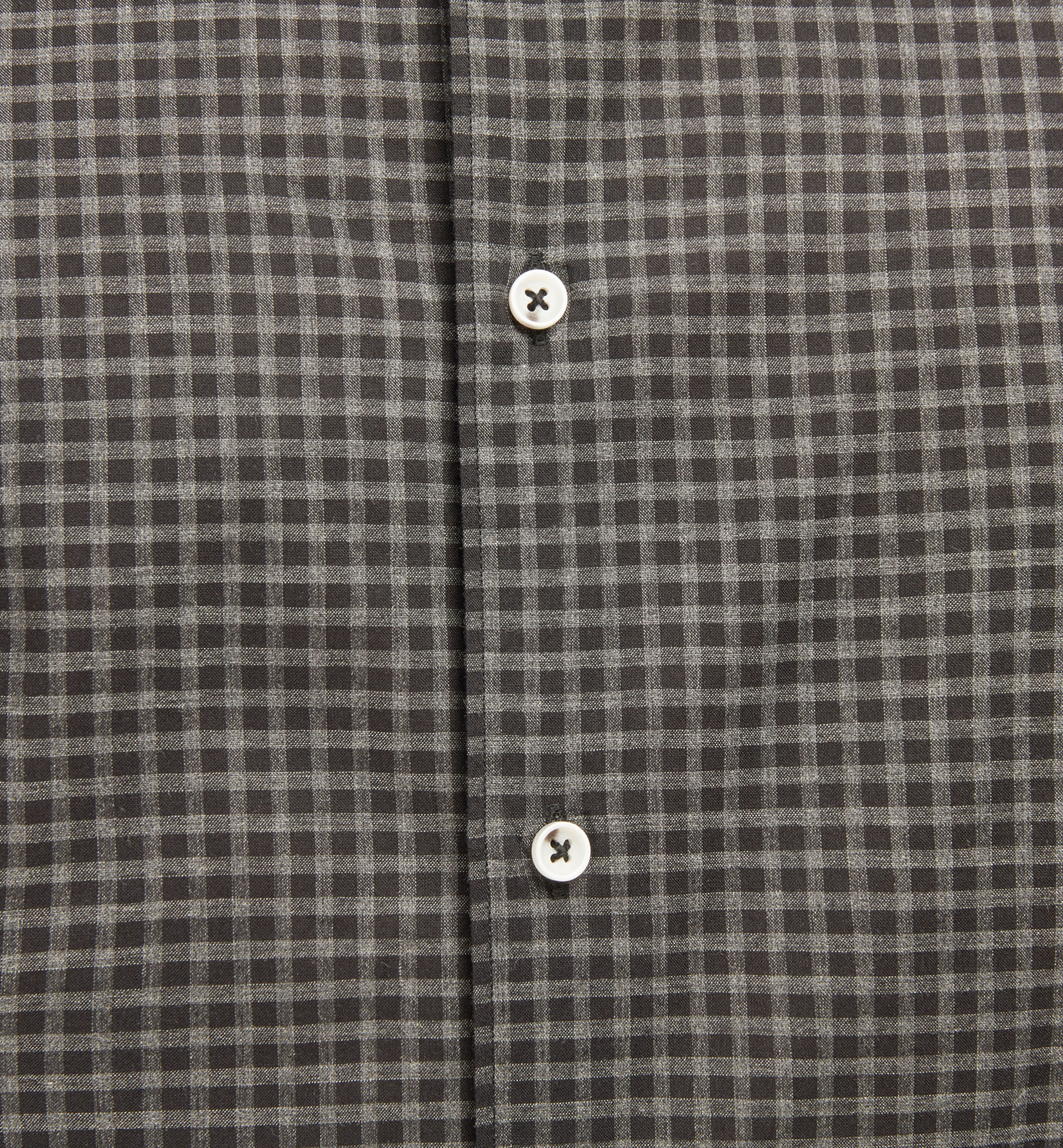 SLIM GREY GINGHAM CHECK SHIRT
