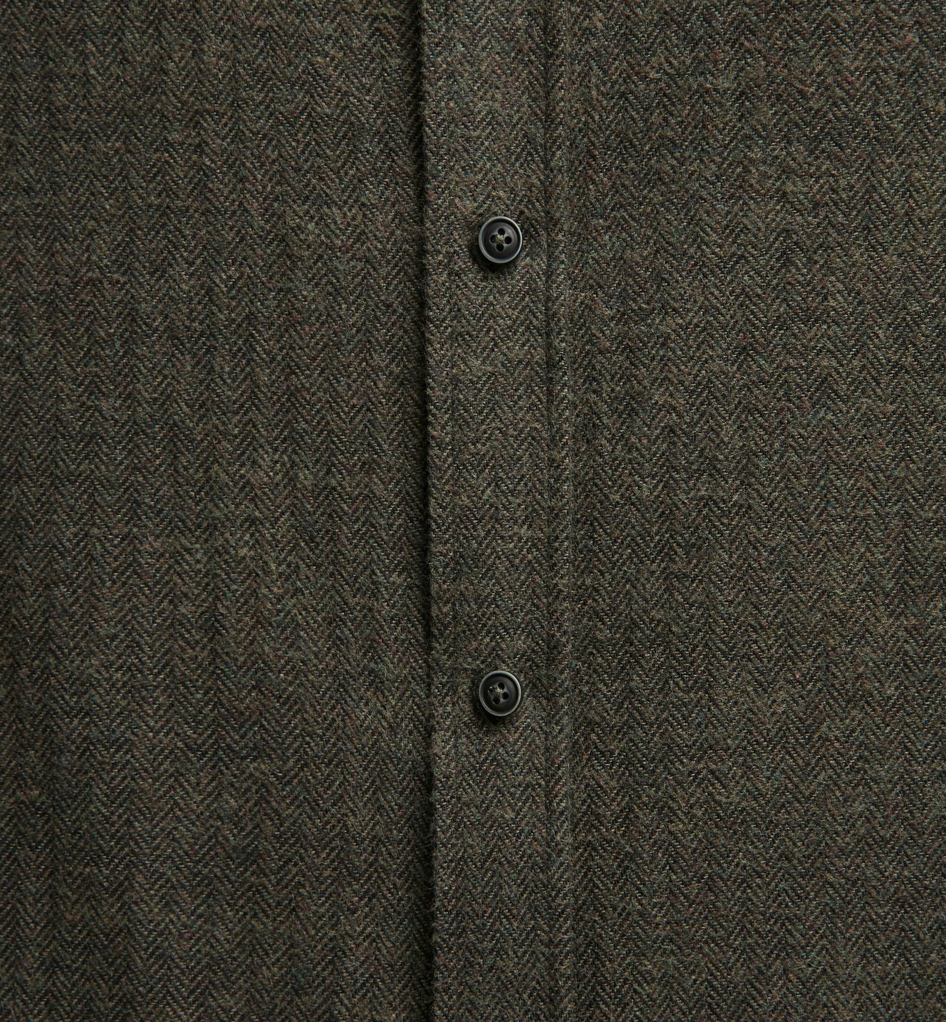 SLIM HERRINGBONE GREEN SHIRT