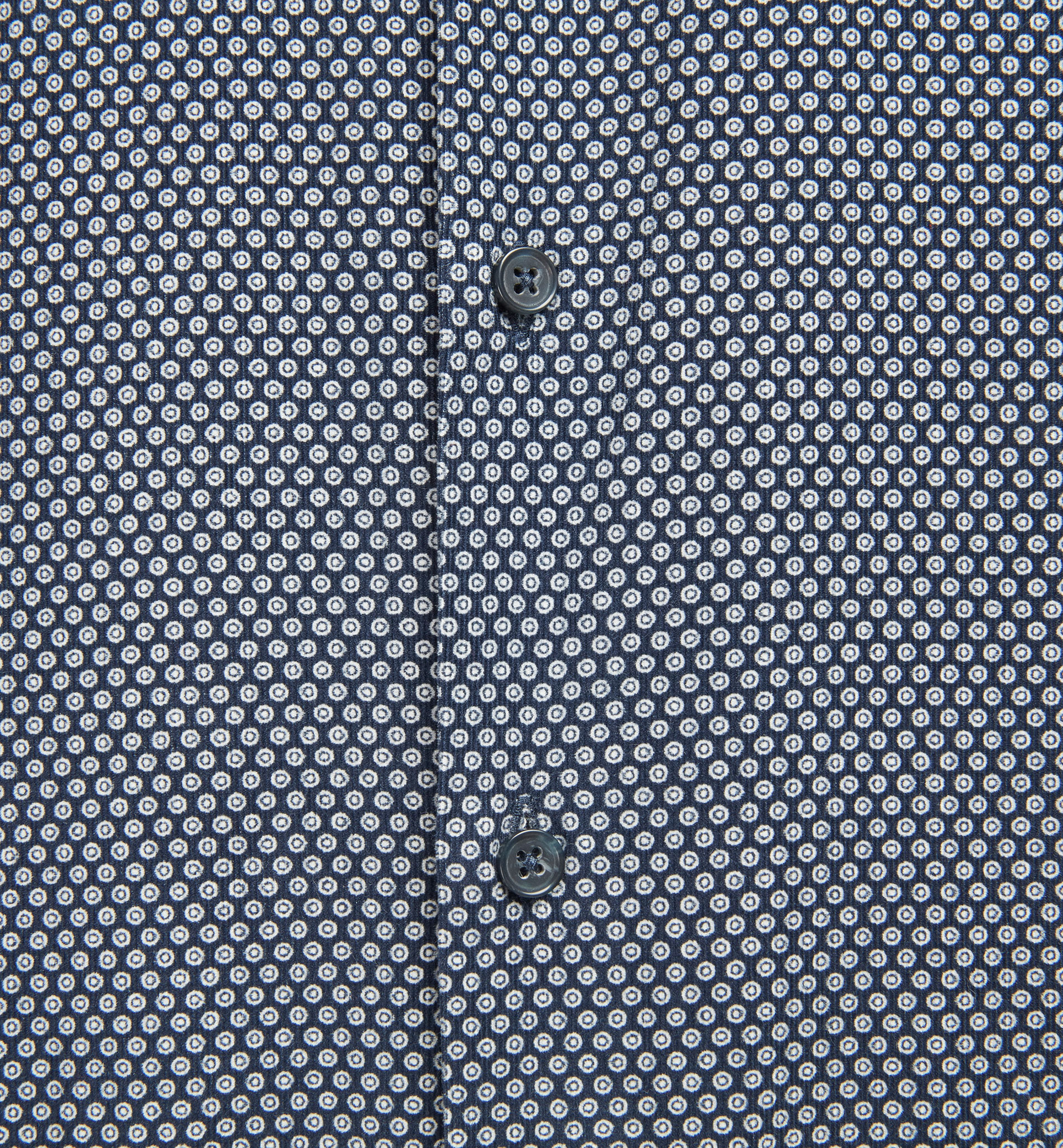 SLIM FIT TEXTURED WEAVE SHIRT WITH CIRCULAR PRINT