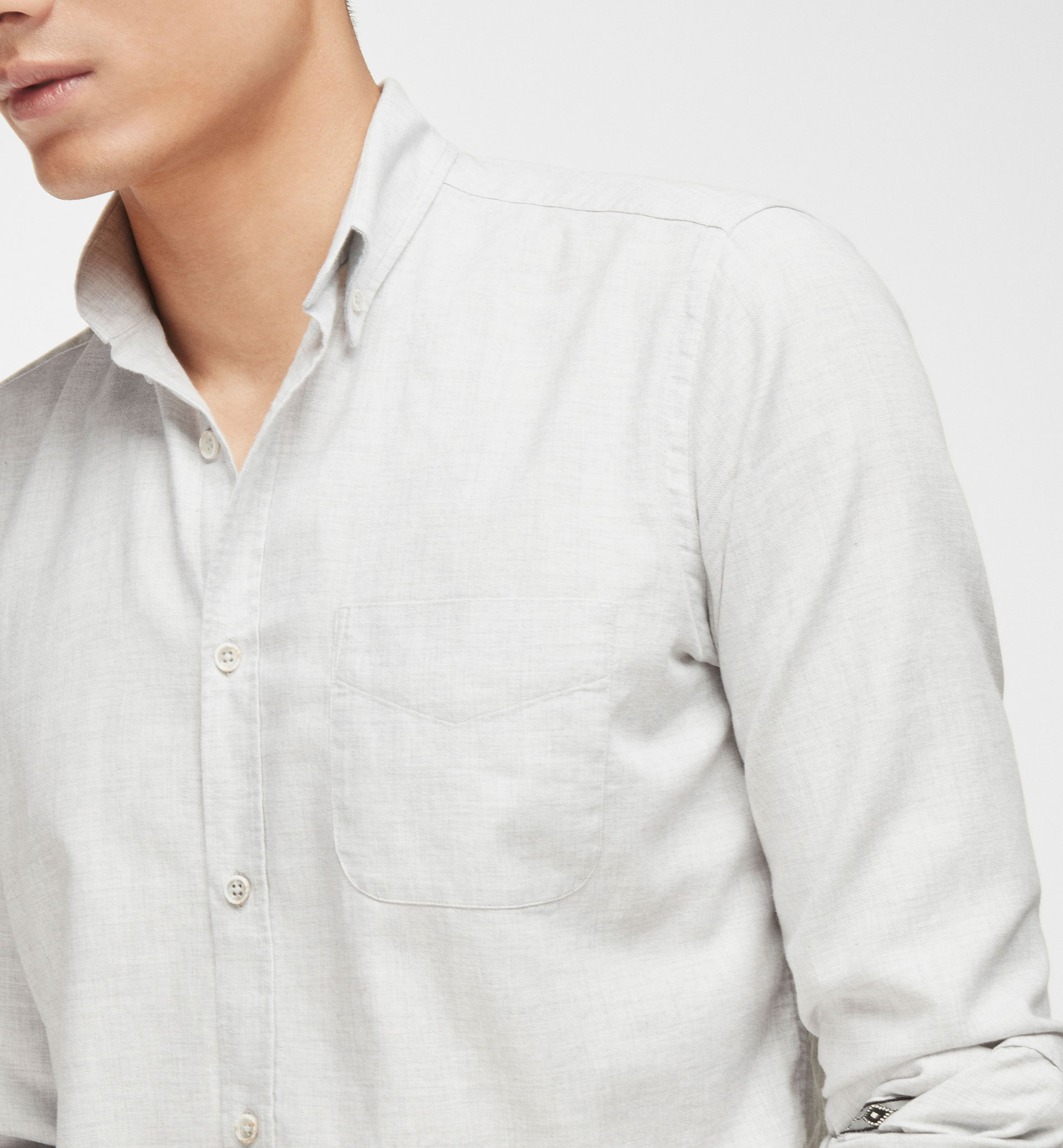 SLIM GREY SHIRT WITH TRIBAL BAND