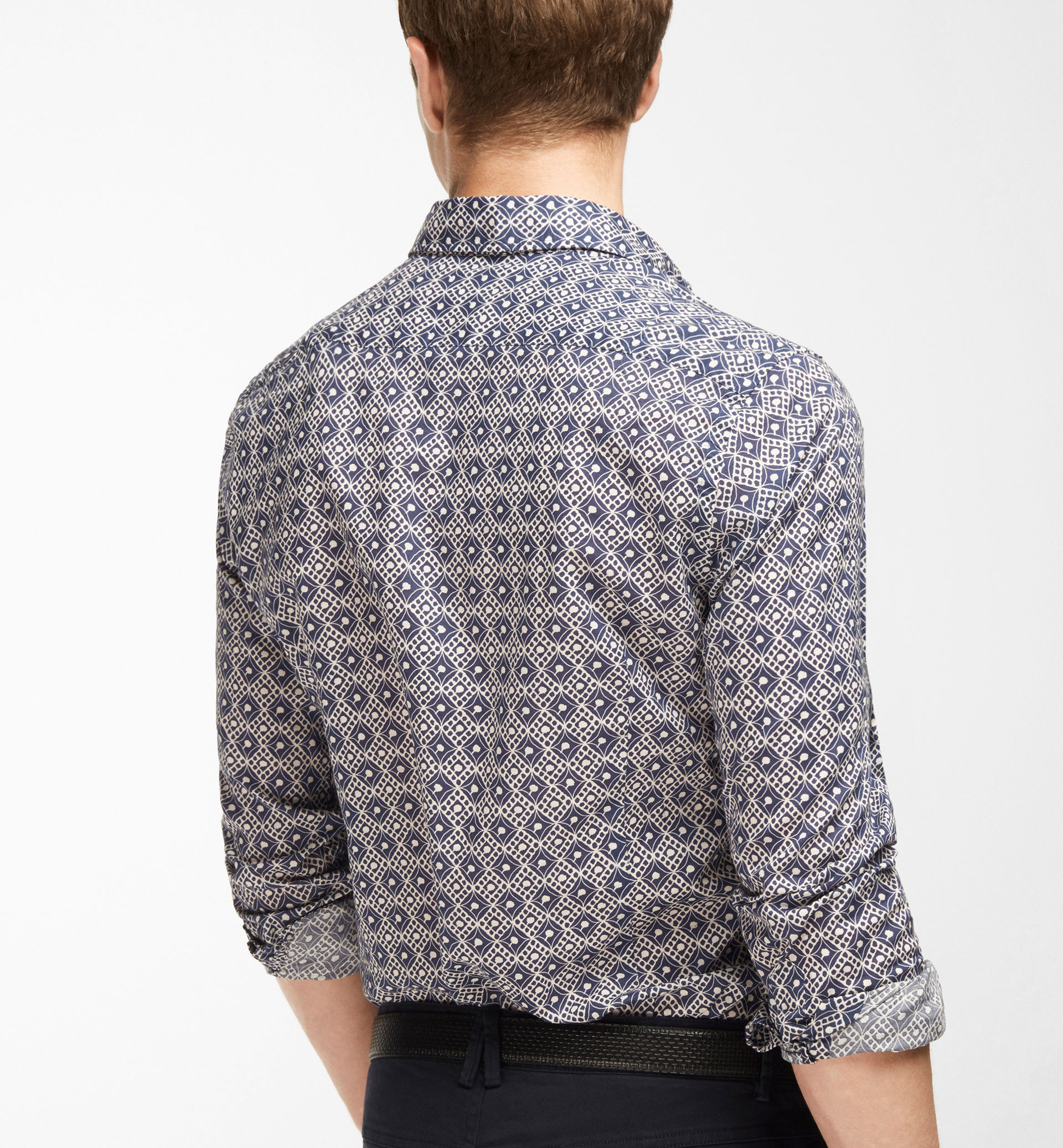 SLIM FIT VINTAGE PRINTED SHIRT