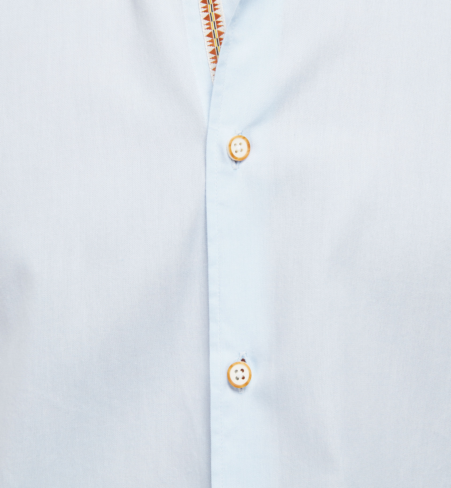SLIM FIT SKY BLUE SHIRT WITH TRIBAL BAND DETAIL