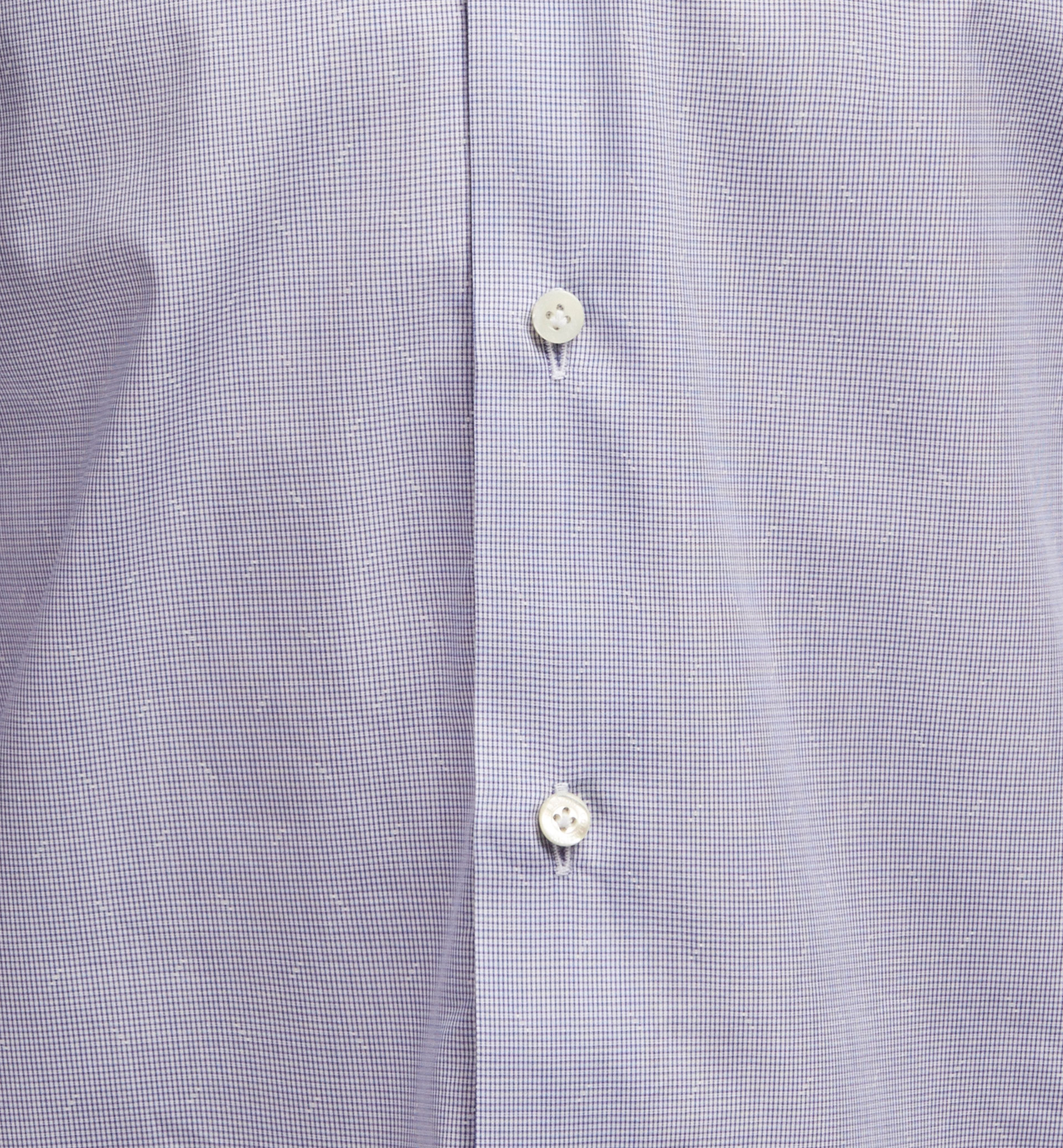 SLIM FIT MICRO-CHECKED DOBBY WEAVE SHIRT