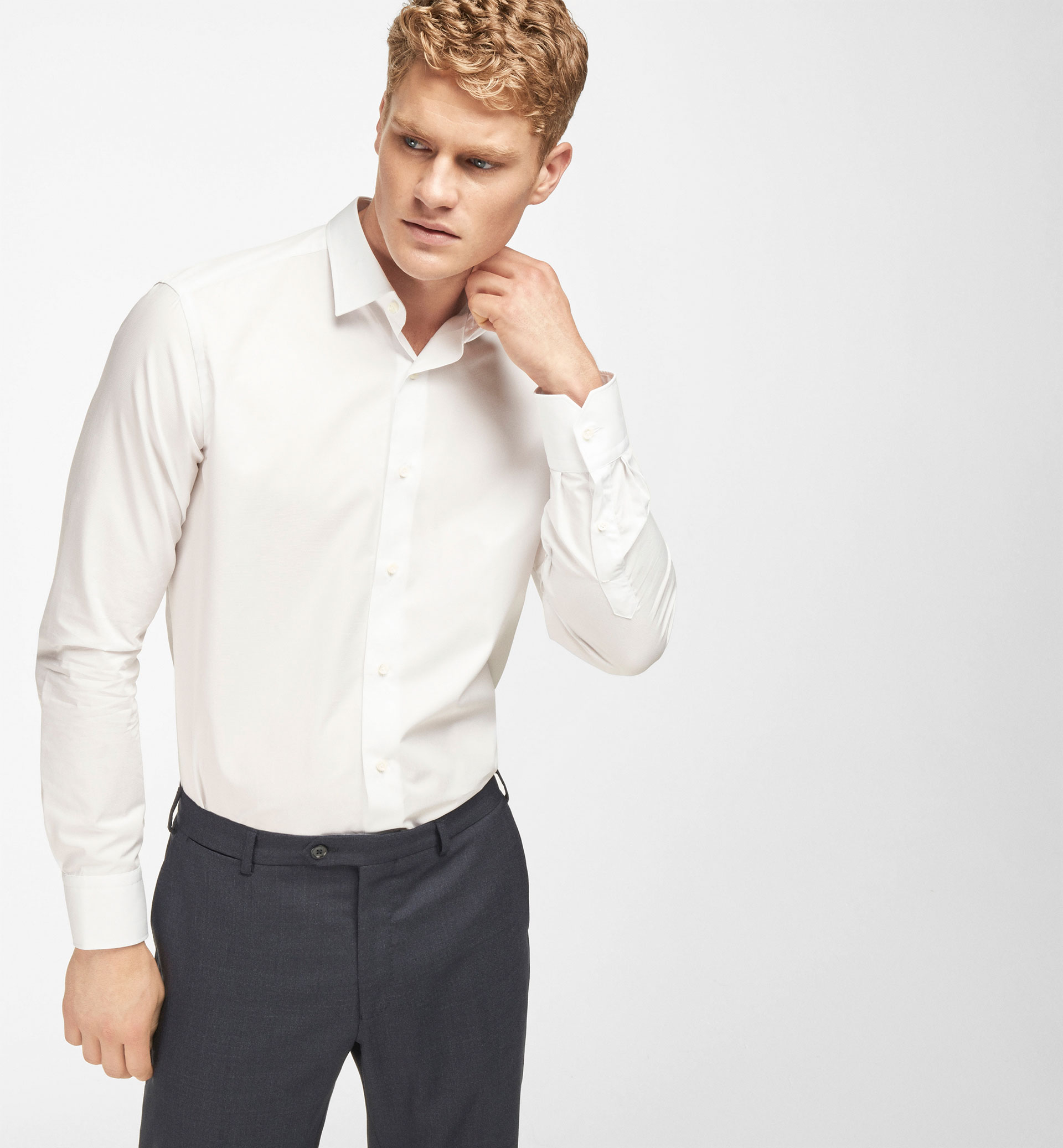 SLIM FIT FALSE-PLAIN SHIRT