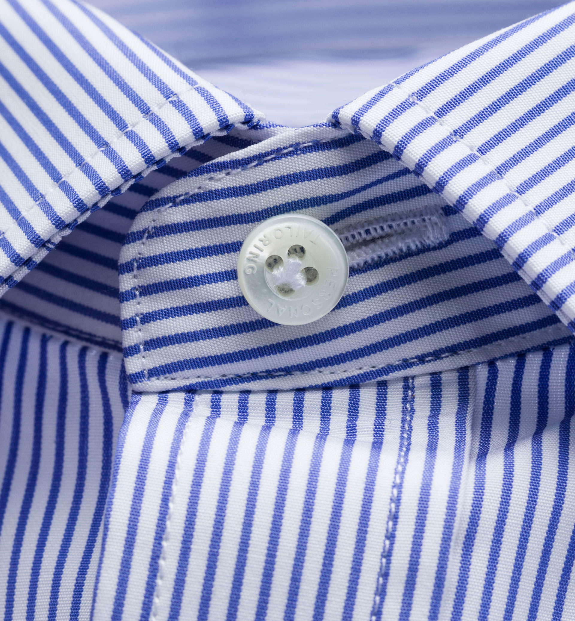 PERSONAL TAILORING SLIM FIT LIGHT BLUE STRIPED SHIRT