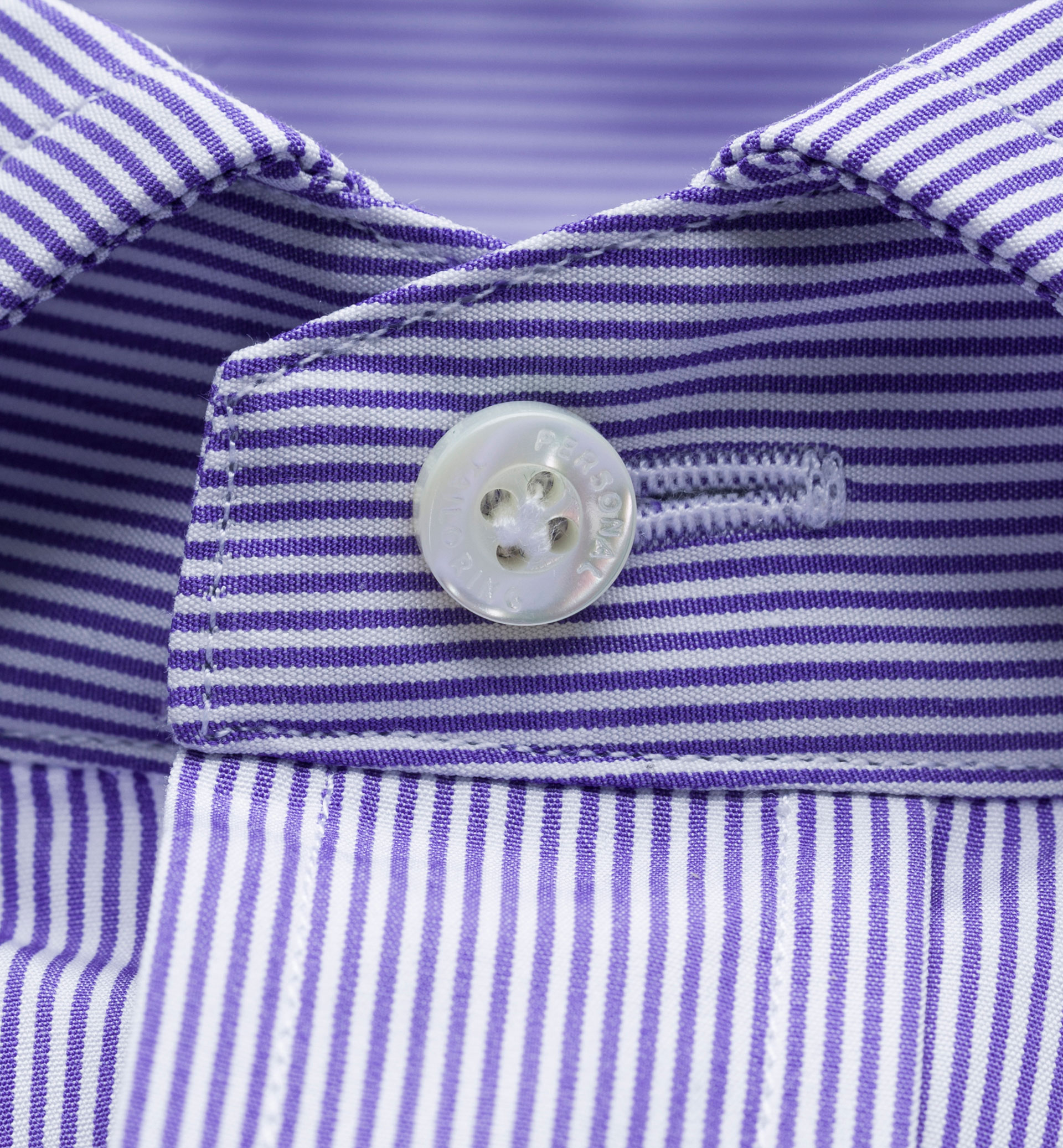 PERSONAL TAILORING SLIM FIT MAUVE STRIPED SHIRT