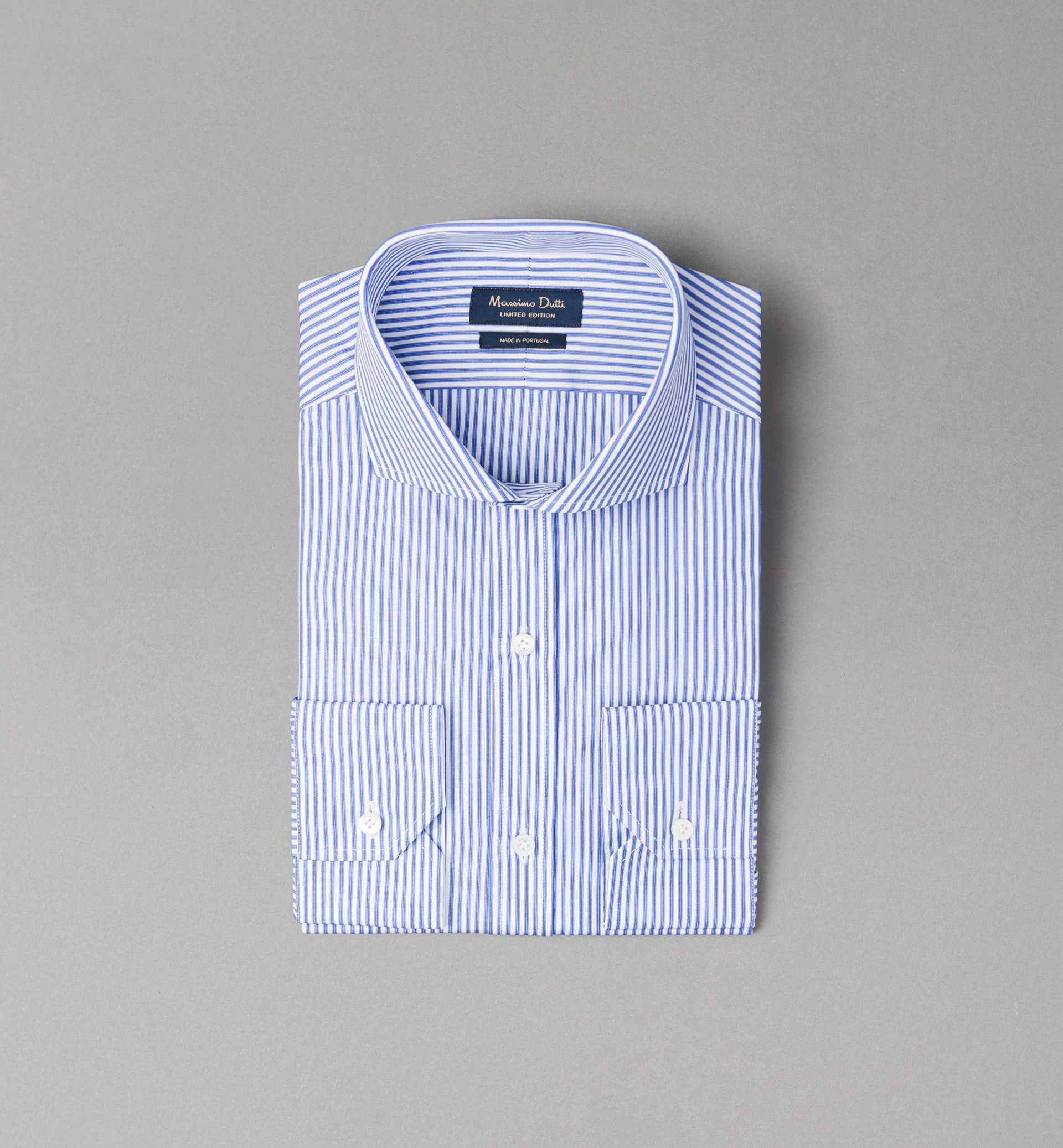 PERSONAL TAILORING BLUE DOUBLE STRIPED SHIRT