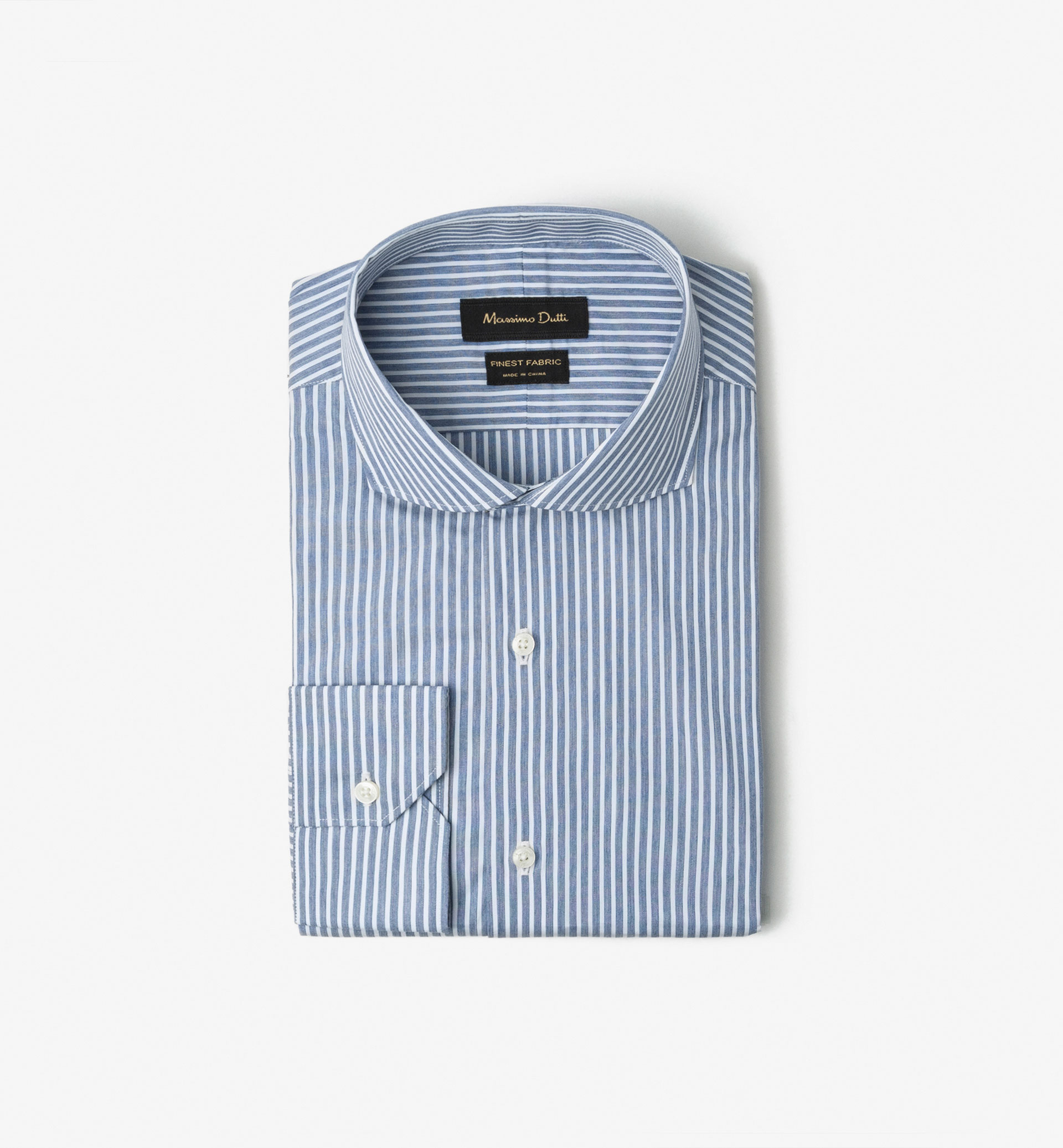 SLIM FIT STRIPED MELANGE SHIRT