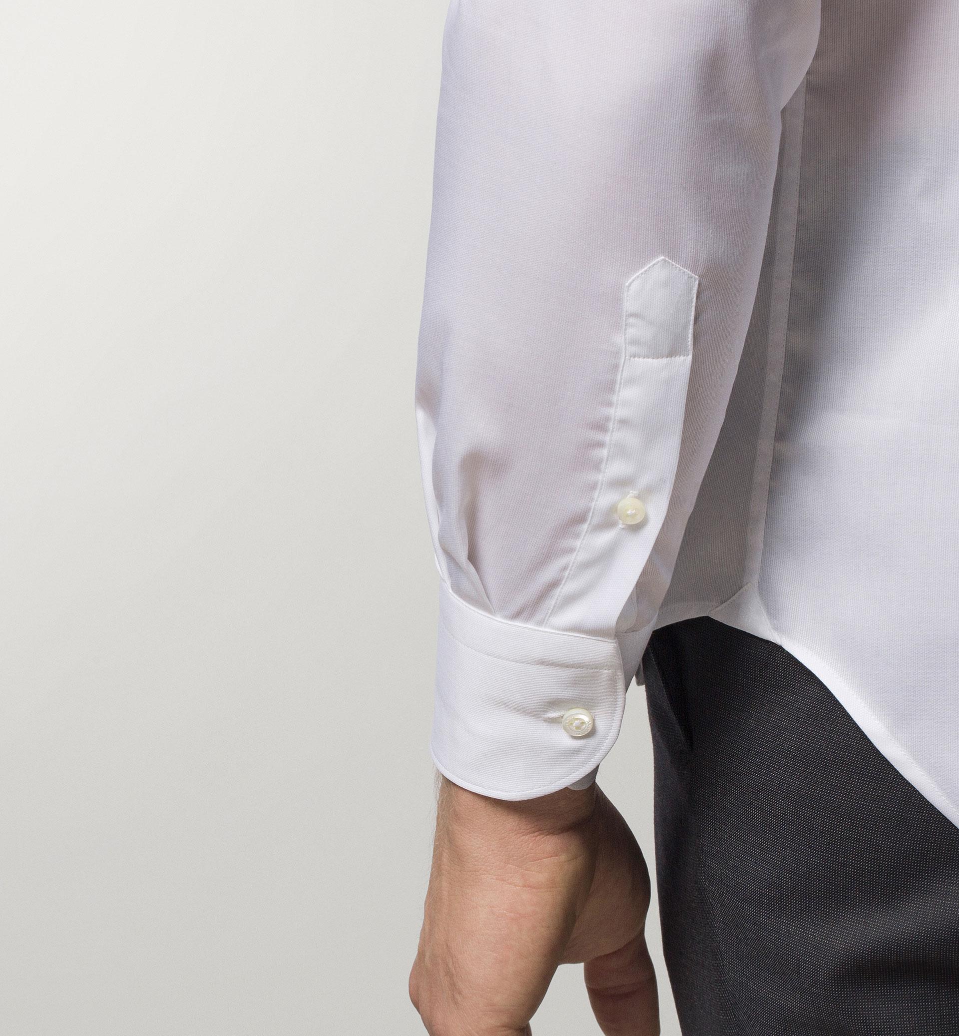 WHITE FALSE-PLAIN SHIRT