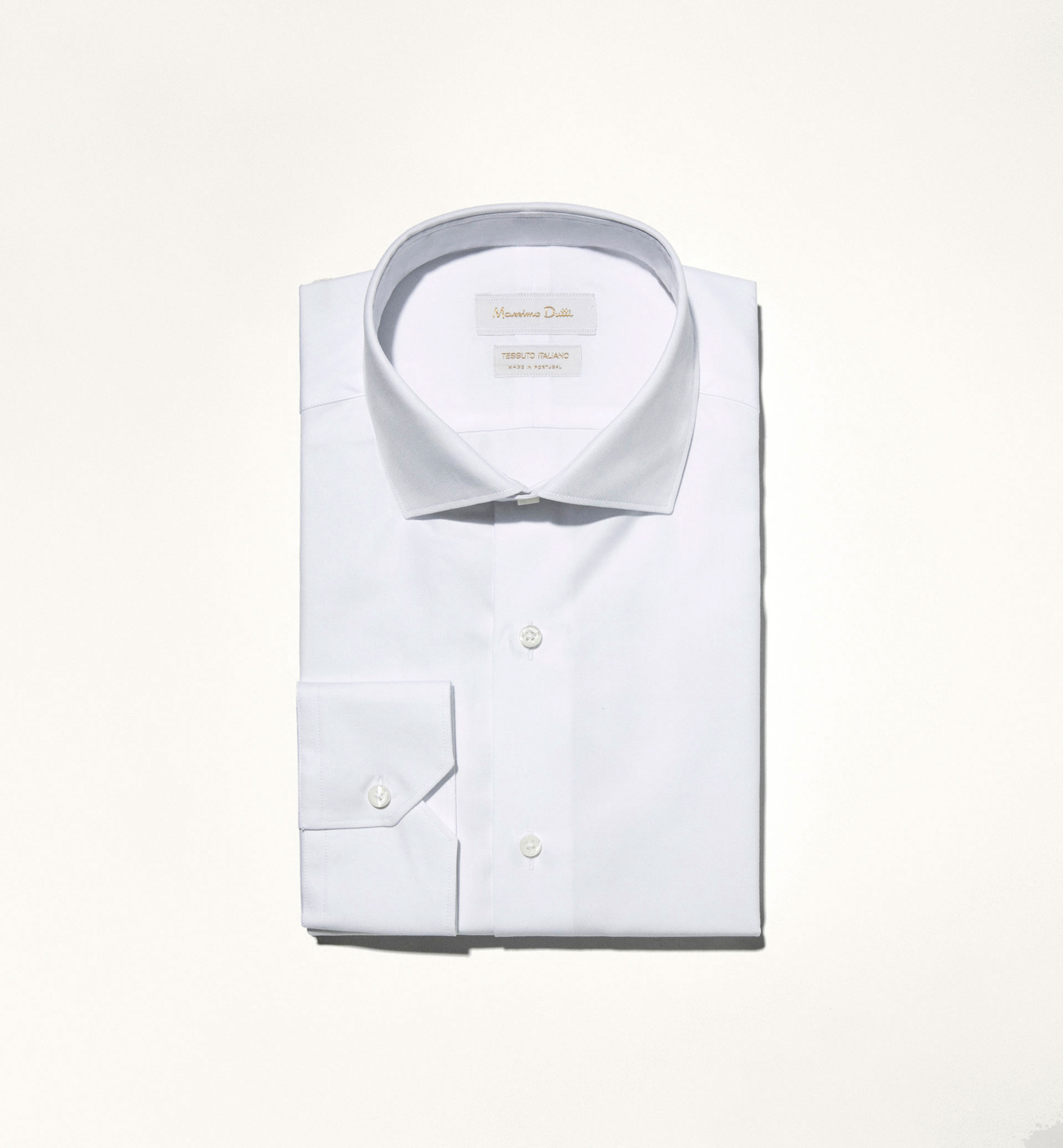 MICRO-DESIGN PLAIN OXFORD SHIRT