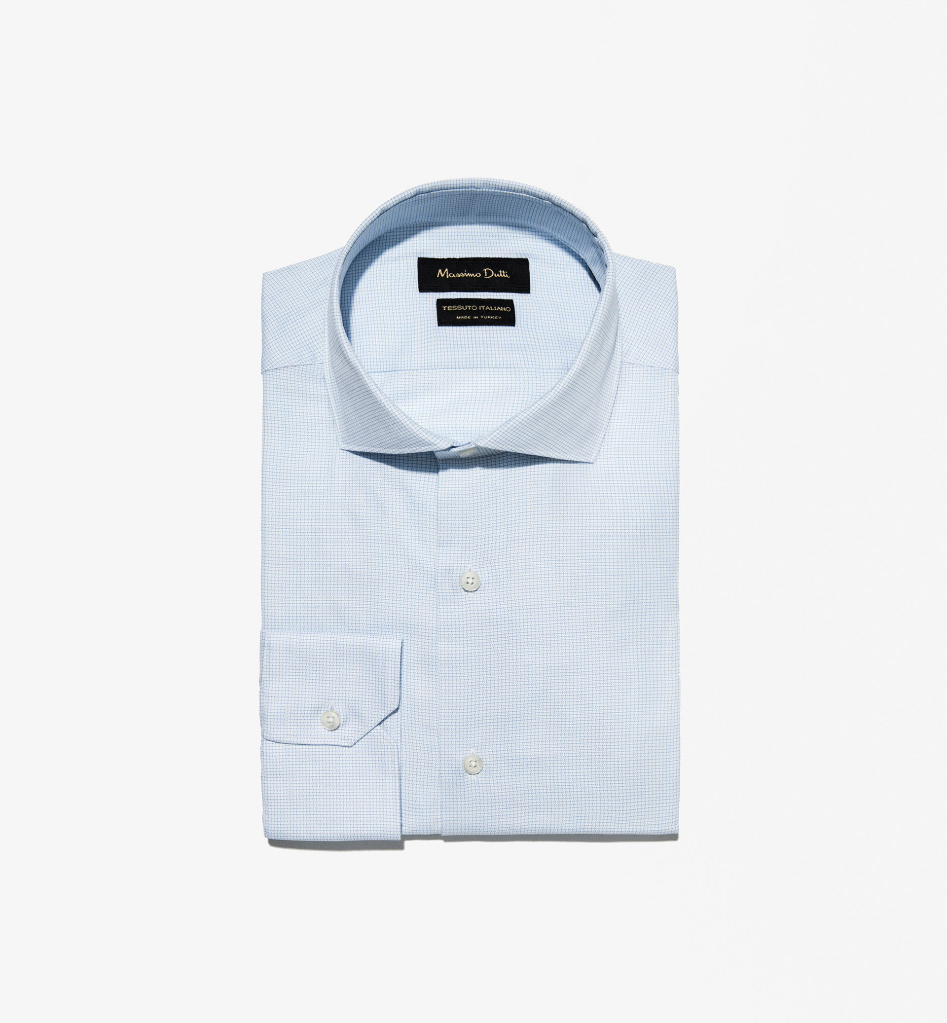 SLIM MICRO CHECK SHIRT