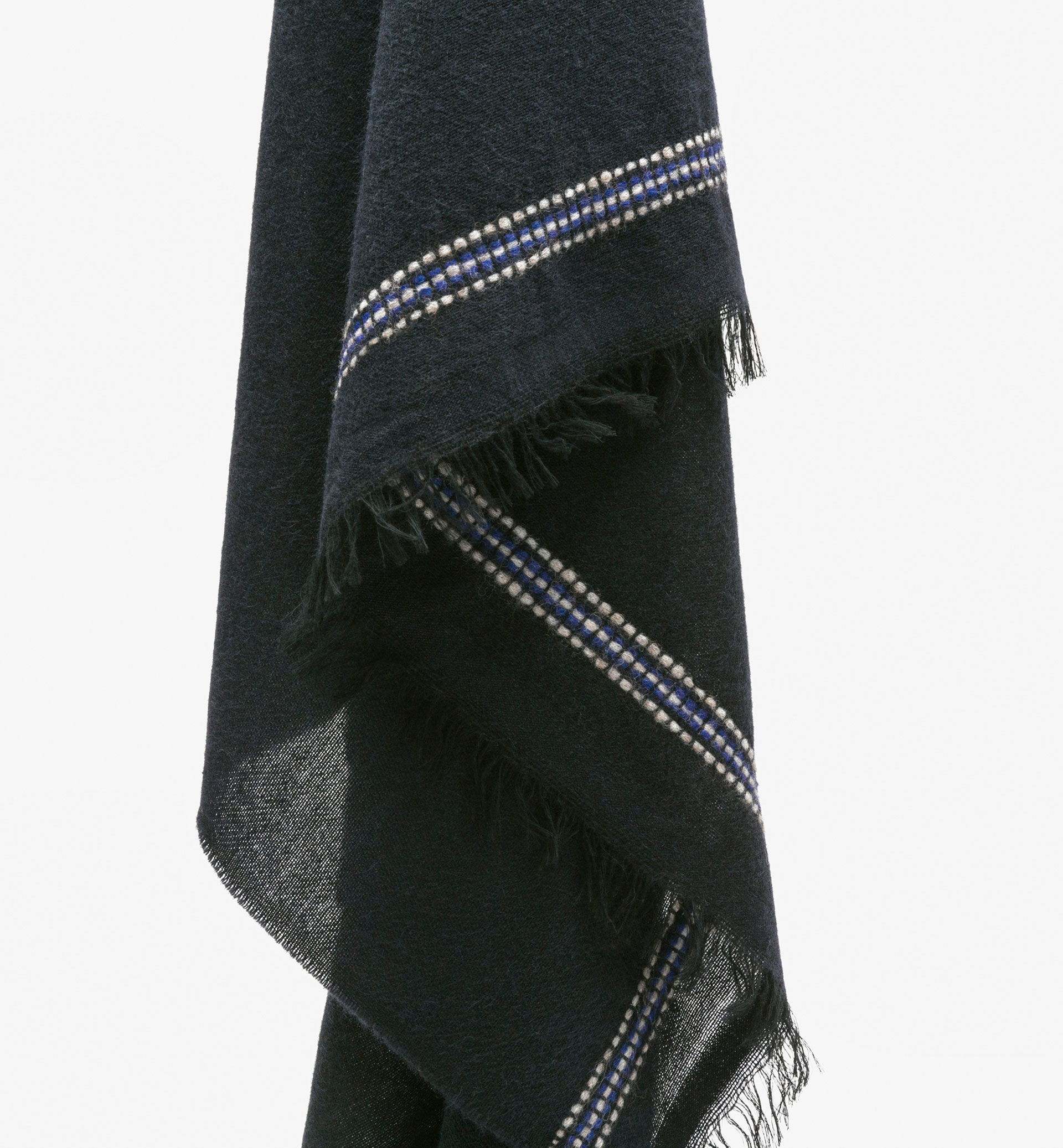 WOOL SCARF WITH EMBROIDERY