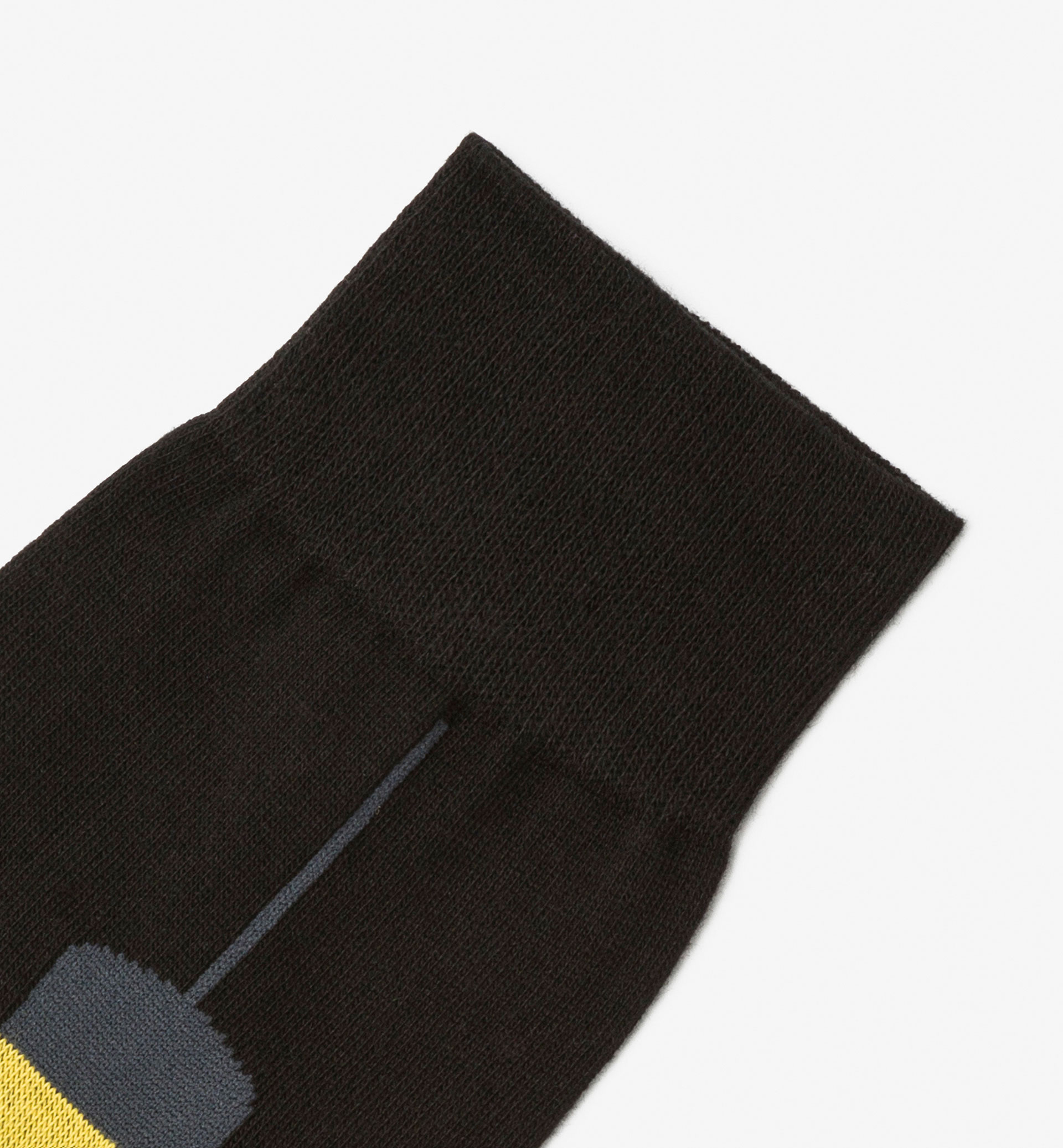 BRUSHED COTTON SOCKS WITH LIGHT BULB DETAIL
