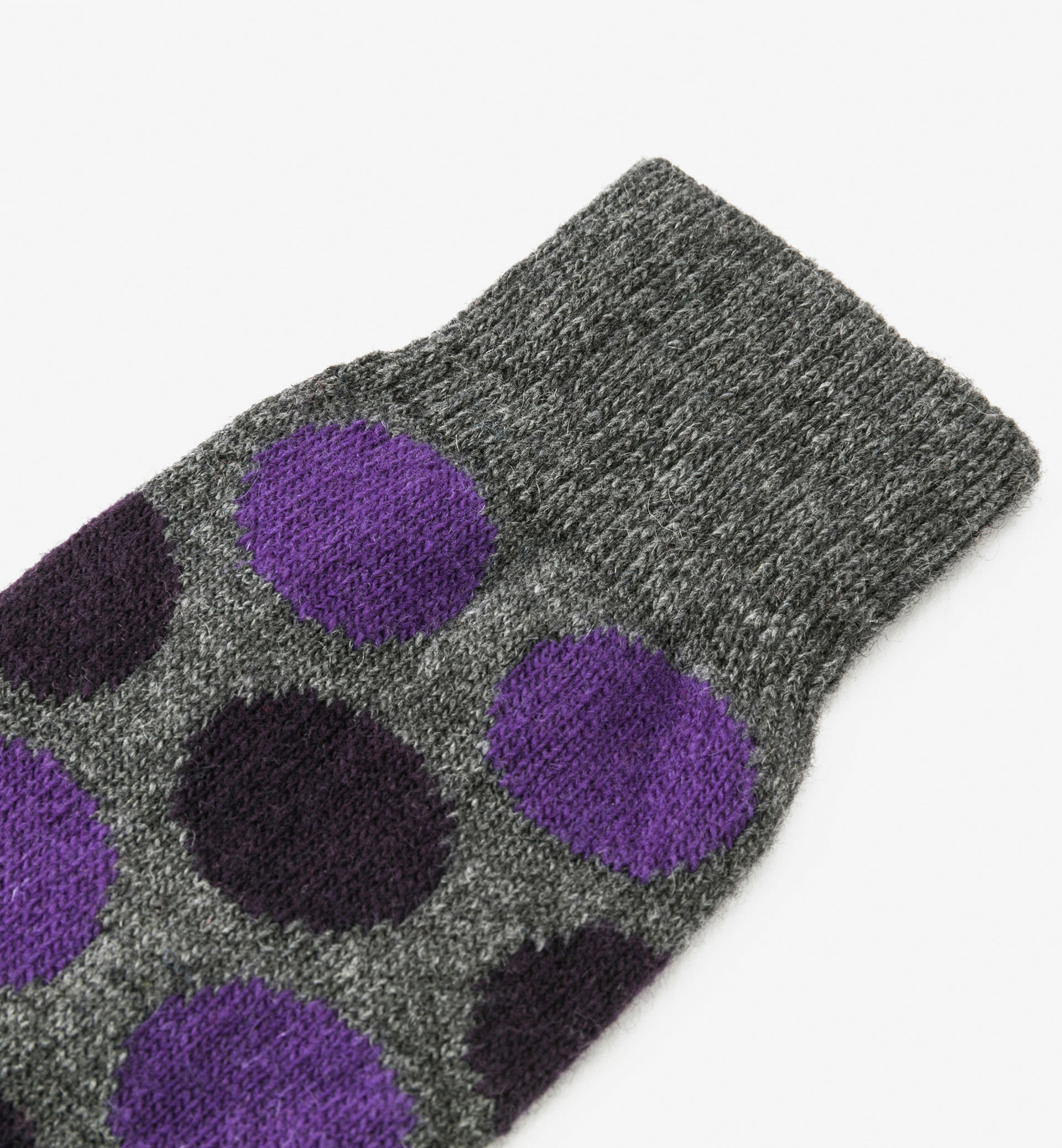 LIMITED EDITION WOOL/CASHMERE LARGE POLKA DOT SOCKS