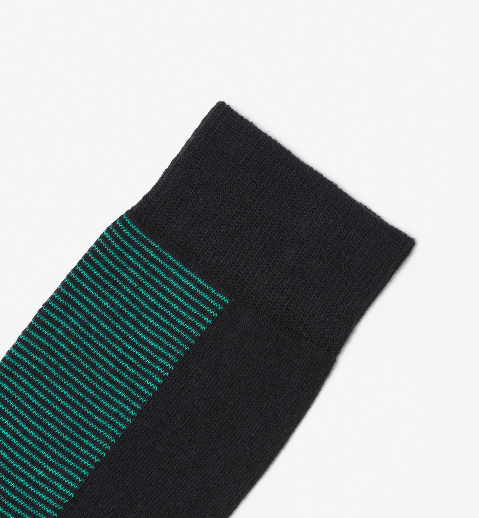 BRUSHED COTTON SOCKS WITH FRONT STRIPES DETAIL