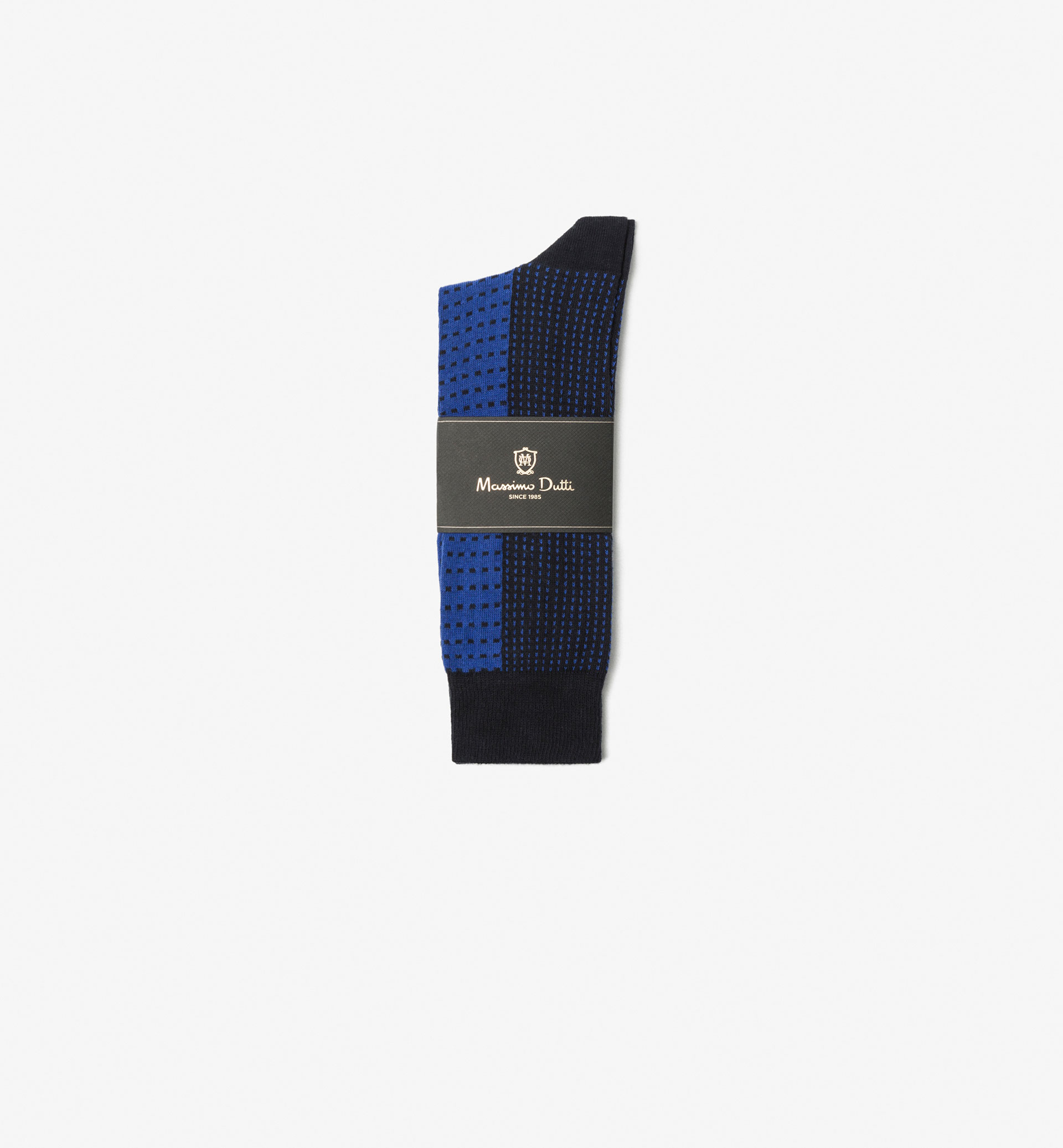 BRUSHED COTTON SOCKS WITH CHECK DETAIL