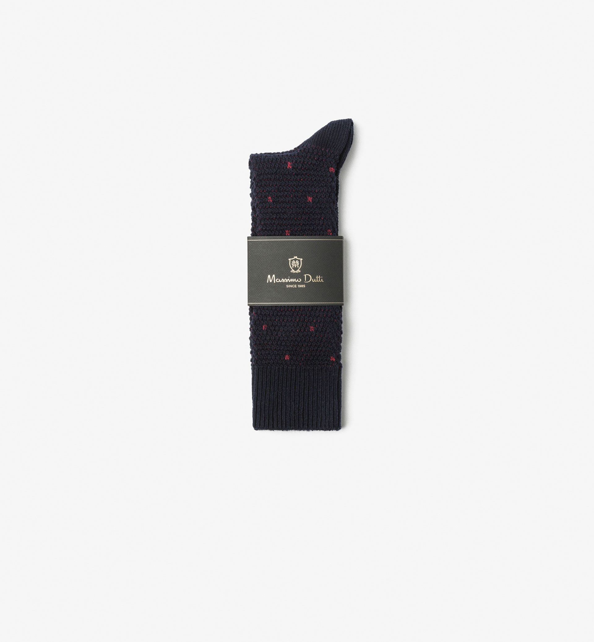 BRUSHED COTTON SOCKS WITH TIE FABRIC DETAIL